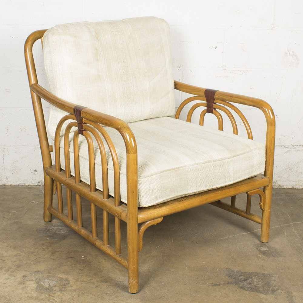 Rattan and Bentwood Armchair