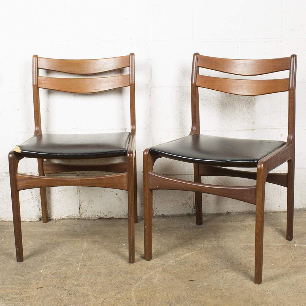 Danish Modern Ladder Back Chairs