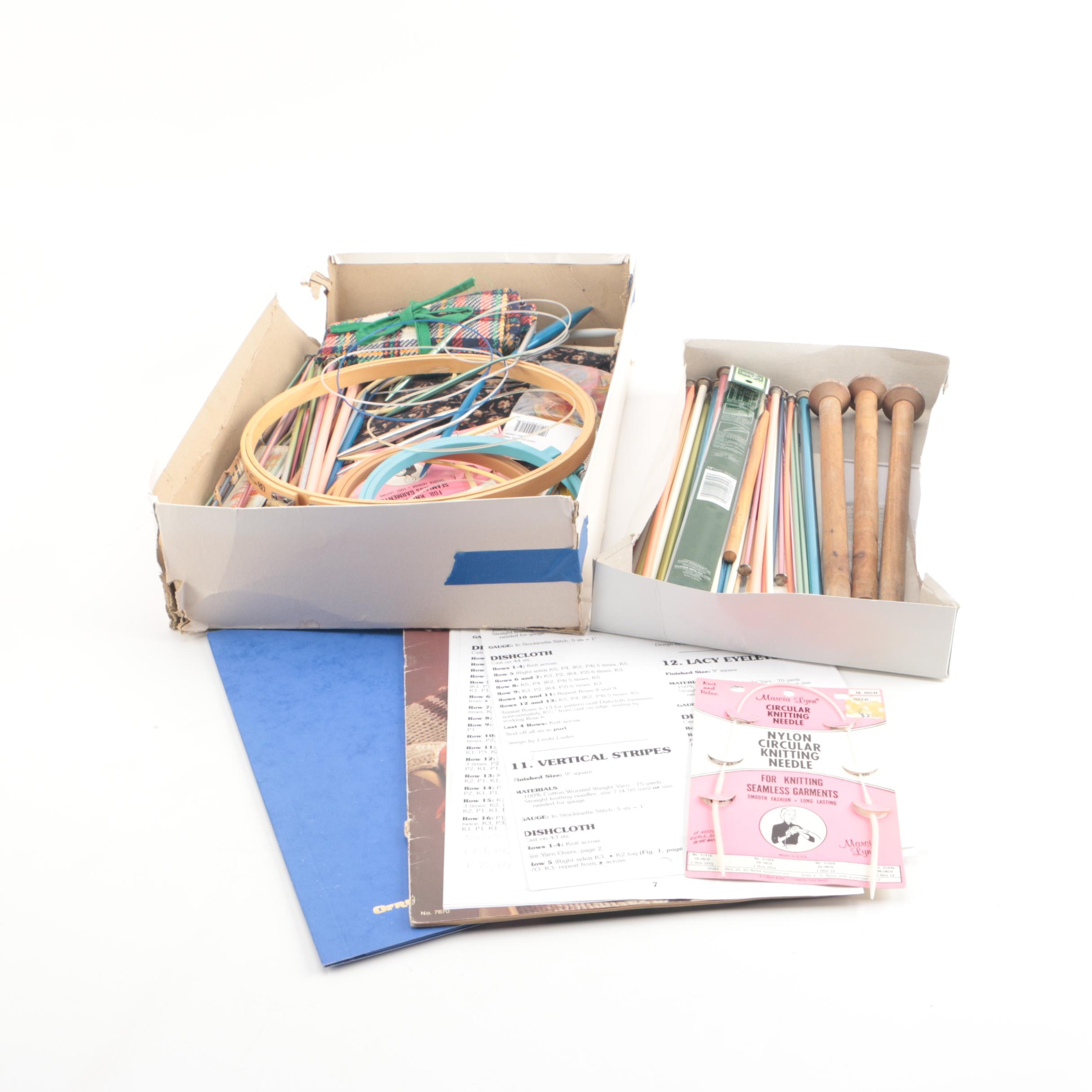 Knitting Supplies, Including Straight and Circular Knitting Needles
