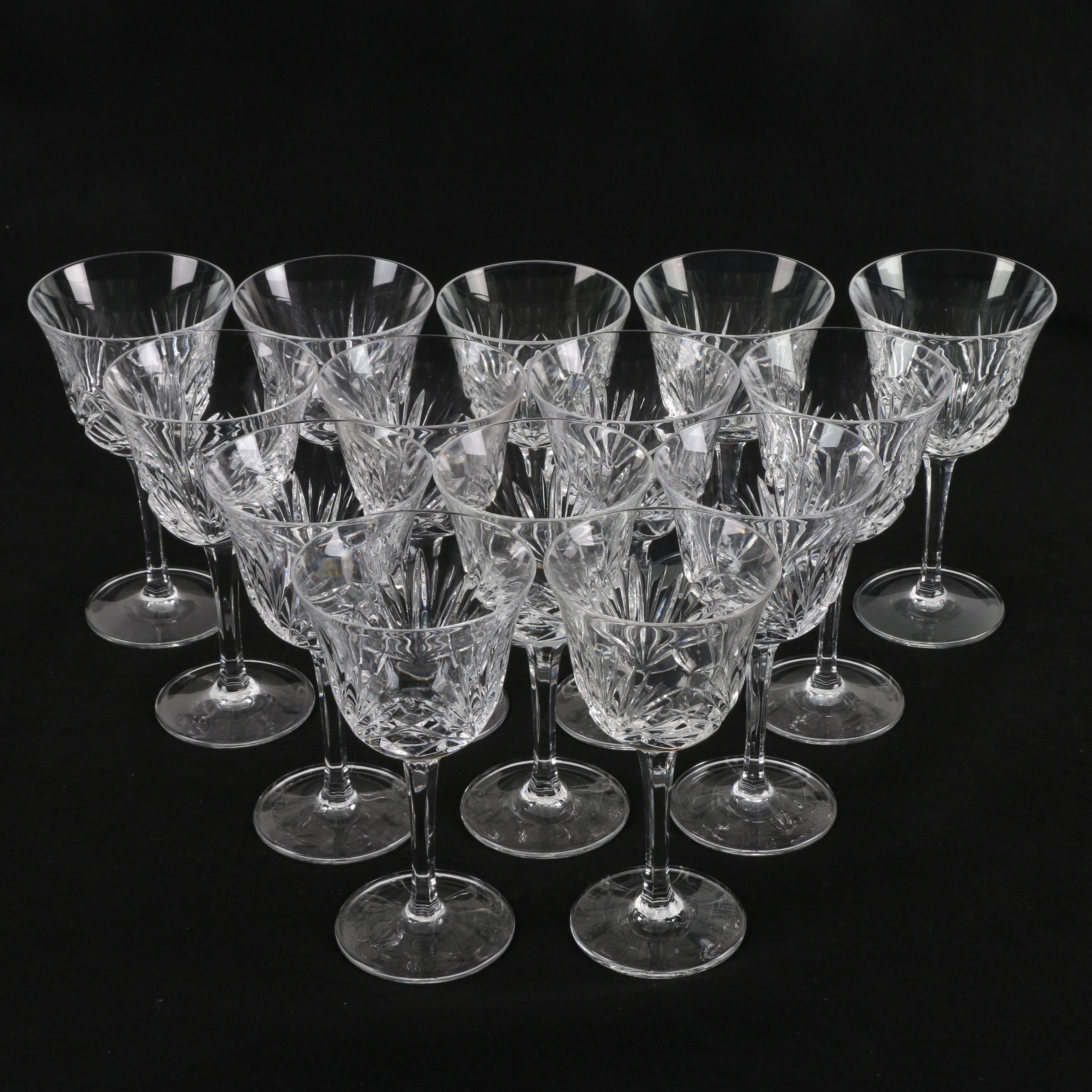"Gorham ""Cherrywood"" Clear Crystal Water Goblets"