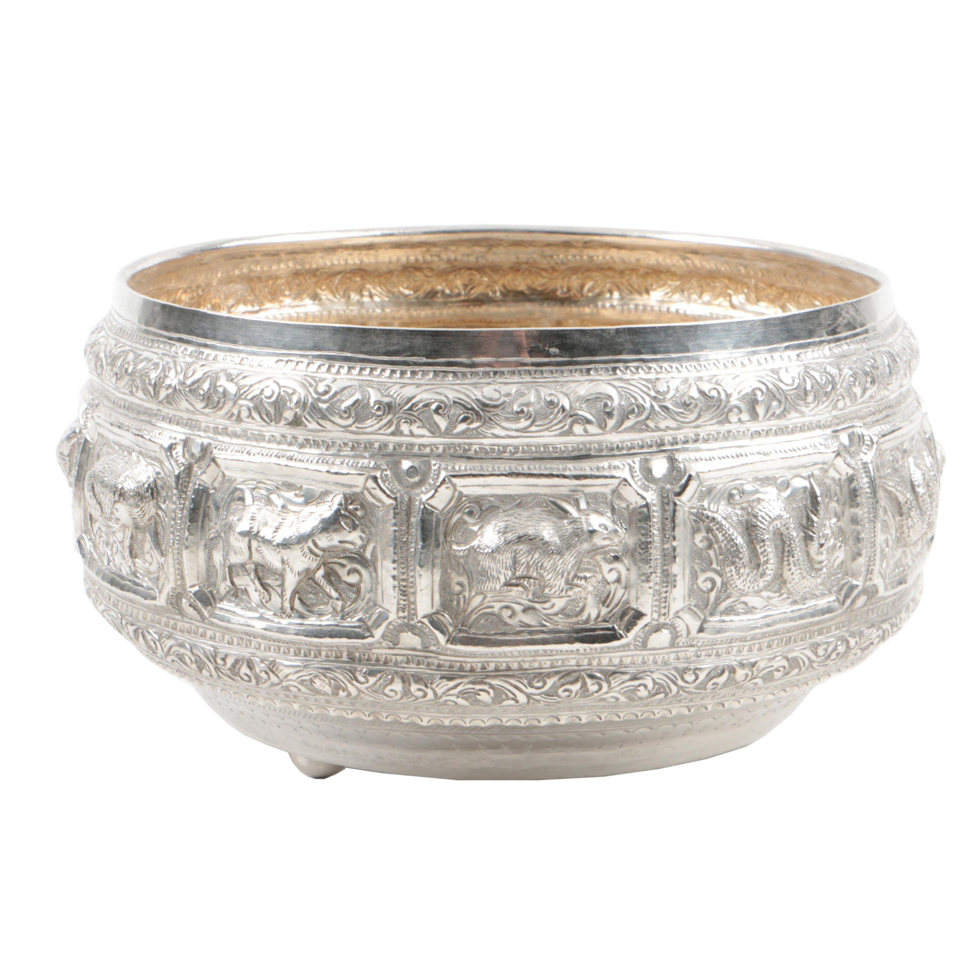 Burmese Silver Thabeik Bowl