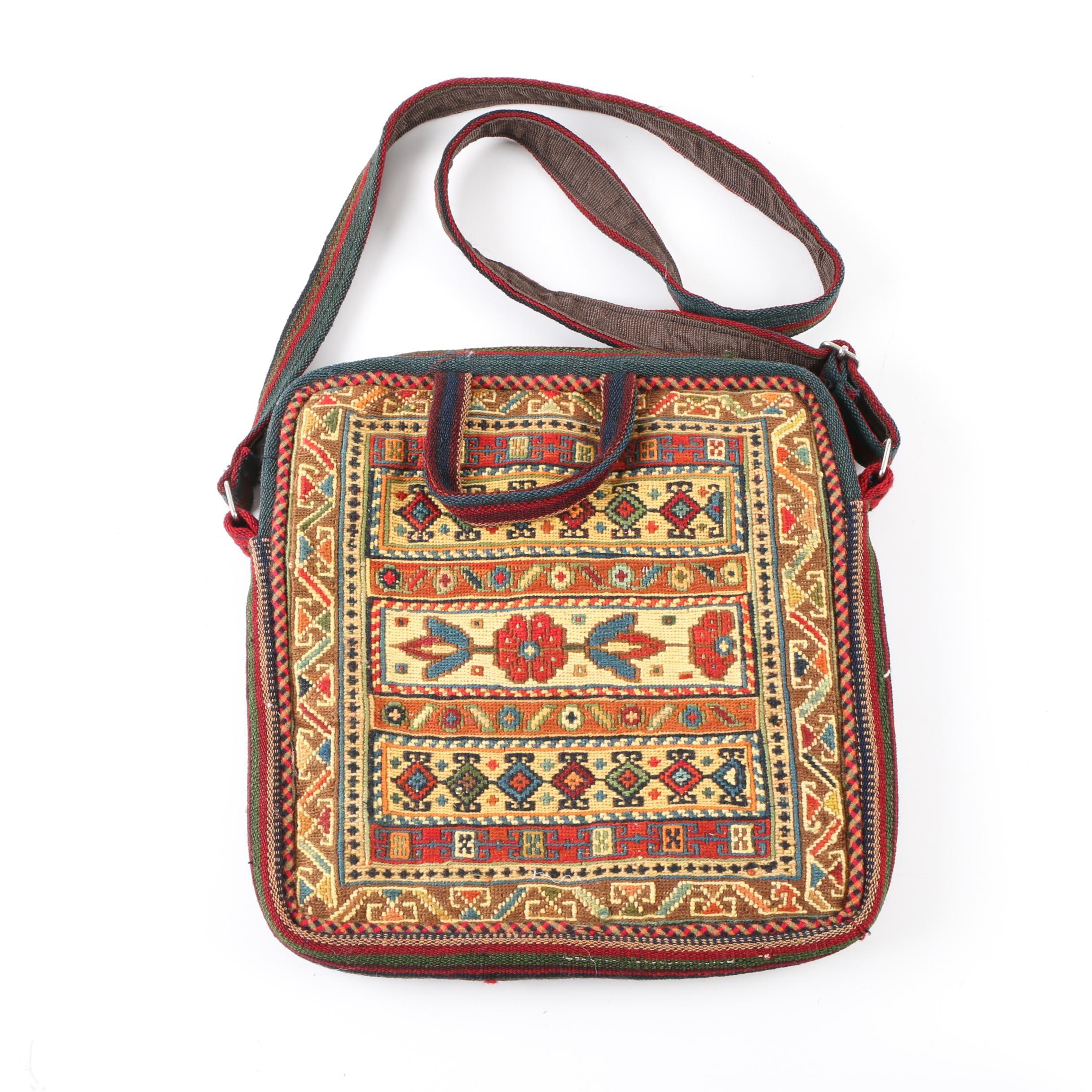 Southwestern Style Woven Messenger Bag