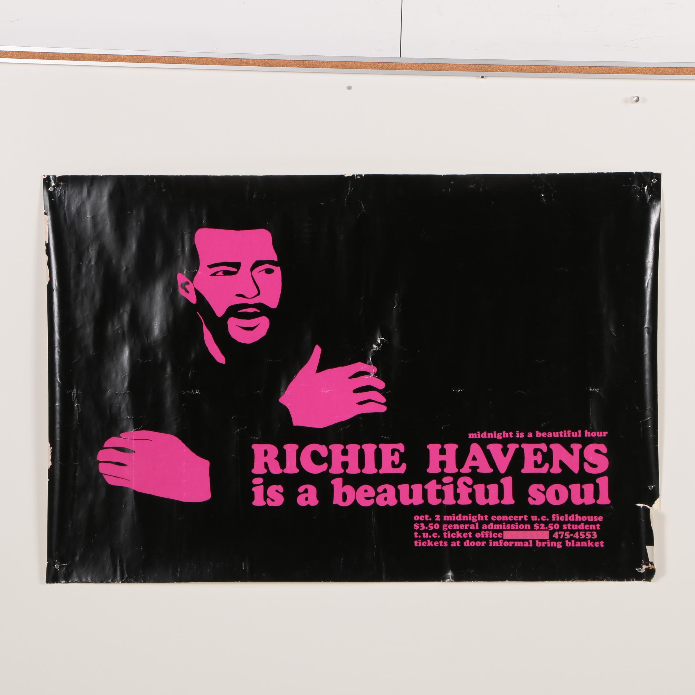 Richie Havens Concert Poster