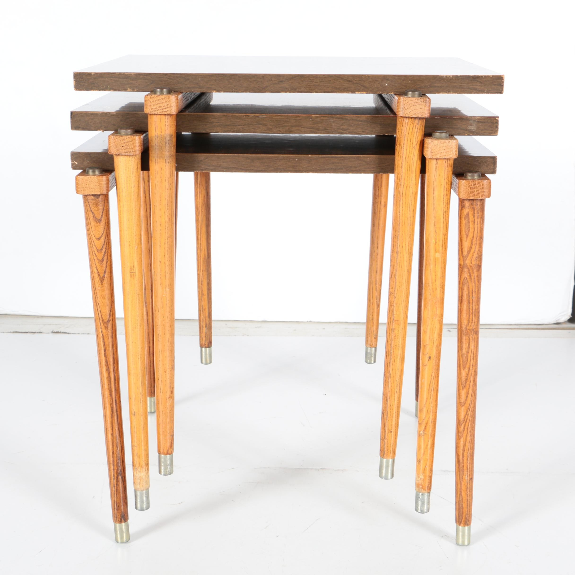 Mid Century Modern Stacking Accent Tables