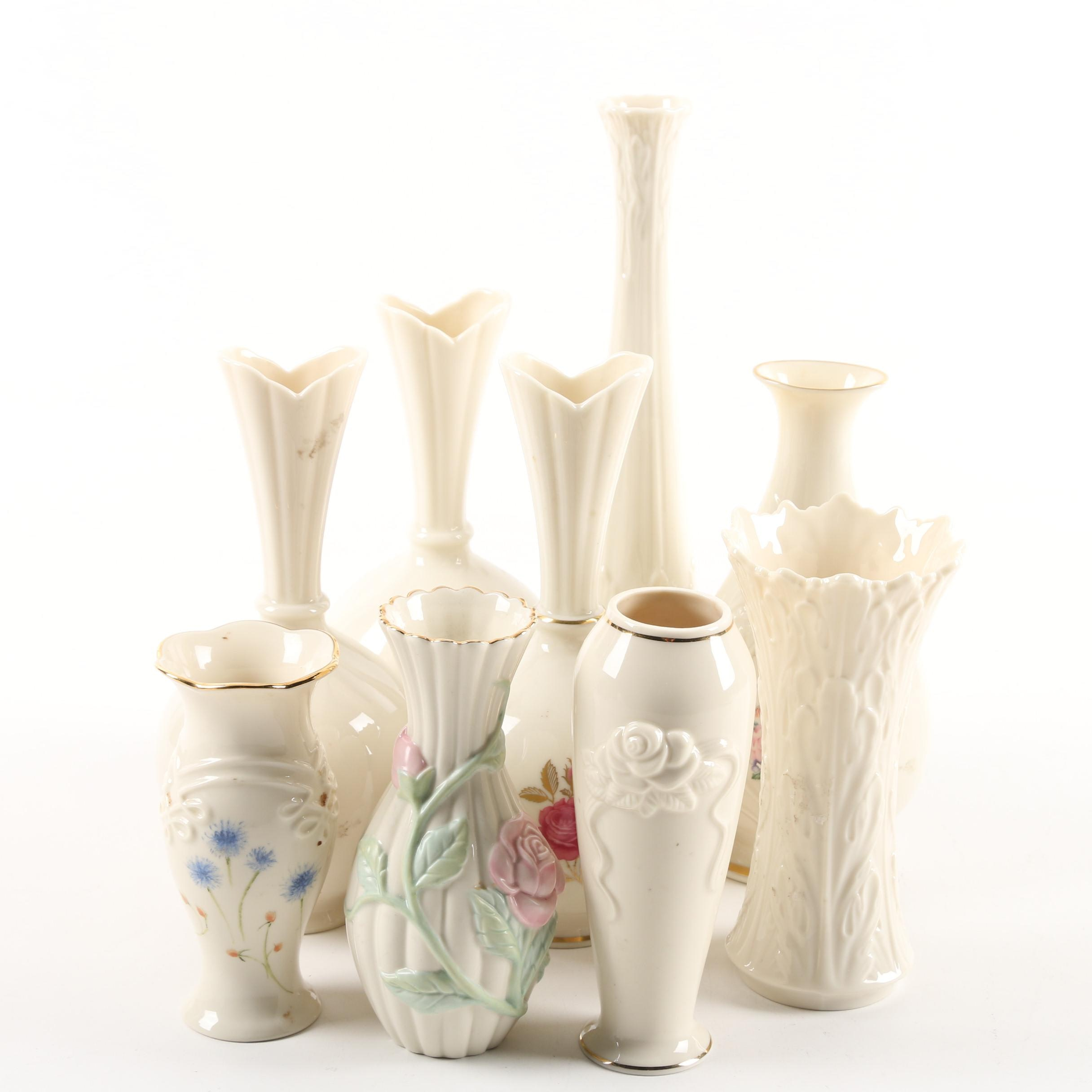 """Lenox Vases Including """"The Flowers of Love"""""""