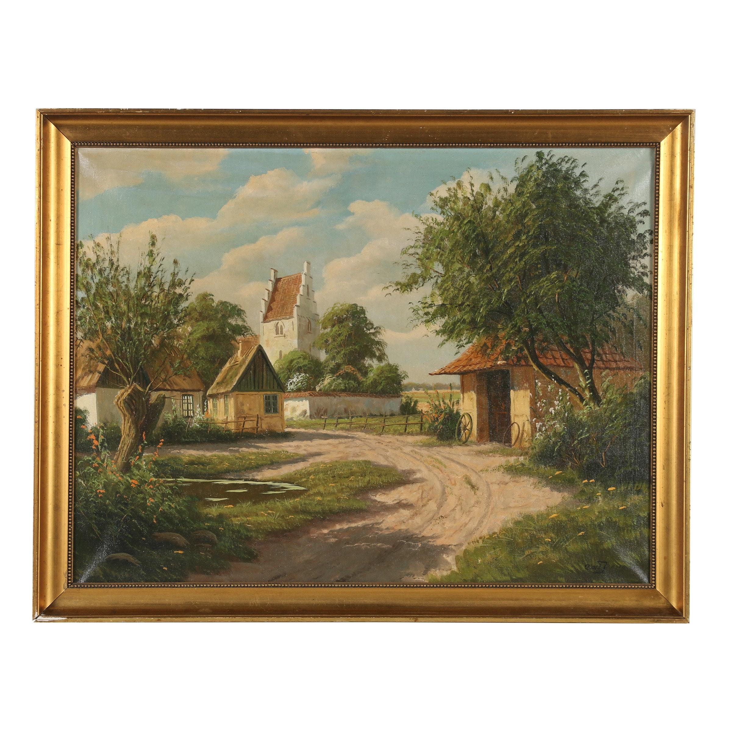 Carl Densen Oil Painting