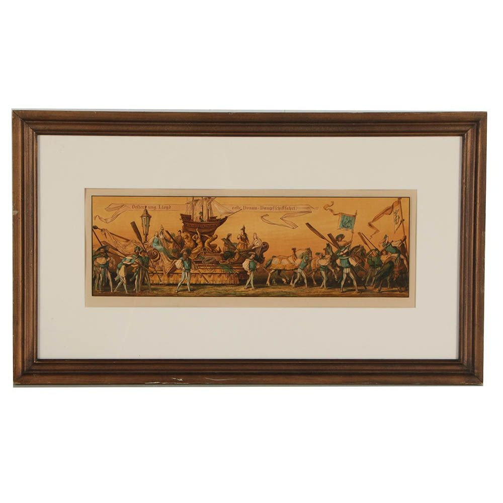 German Chromolithograph of Procession