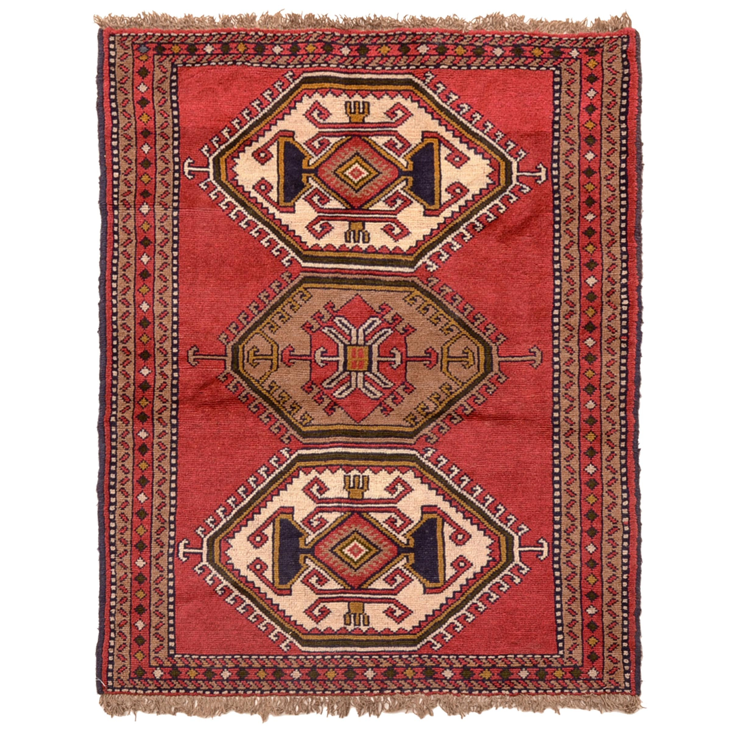 Hand-Knotted Persian Quchan Area Rug