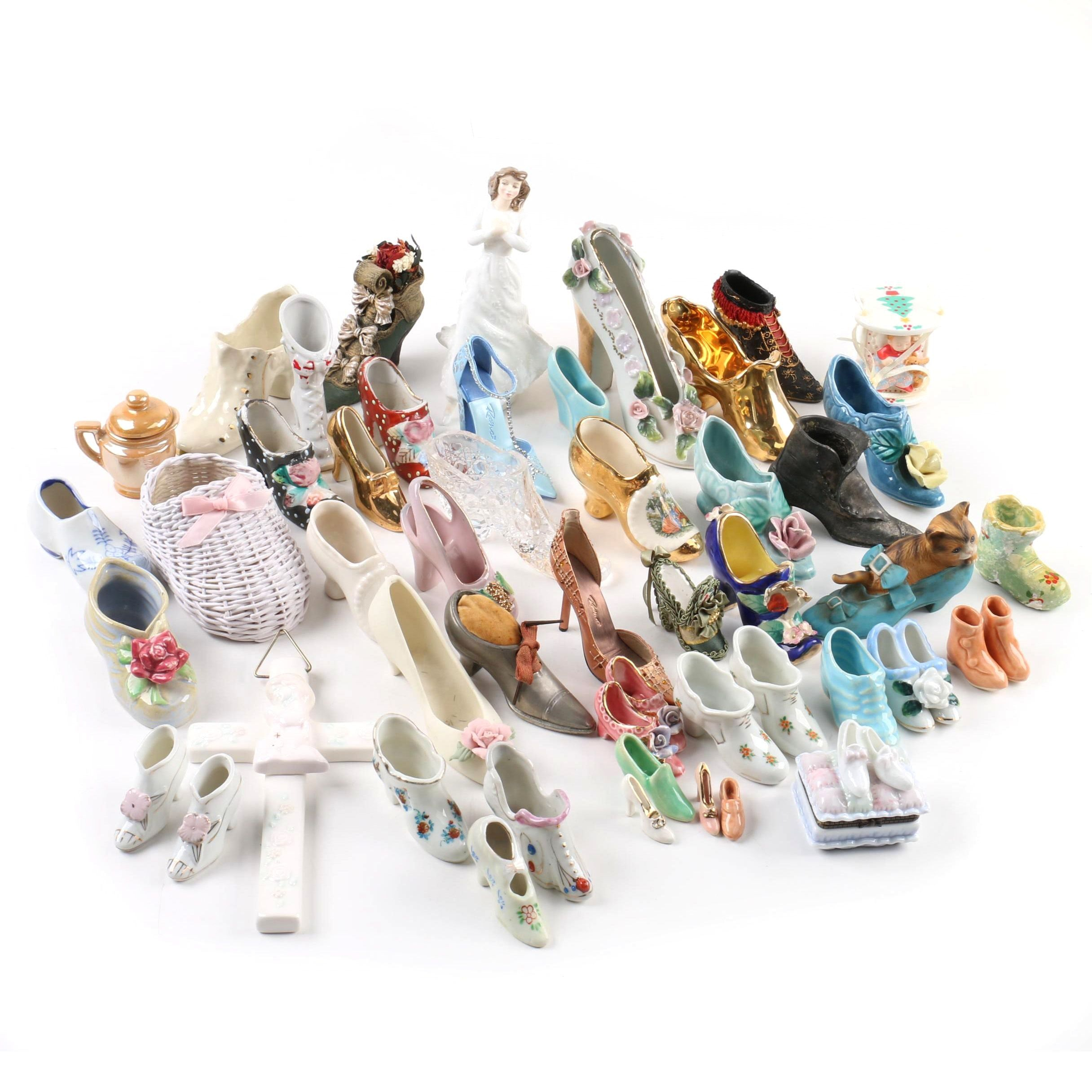 Miniature Shoe Collection and Other Figurines