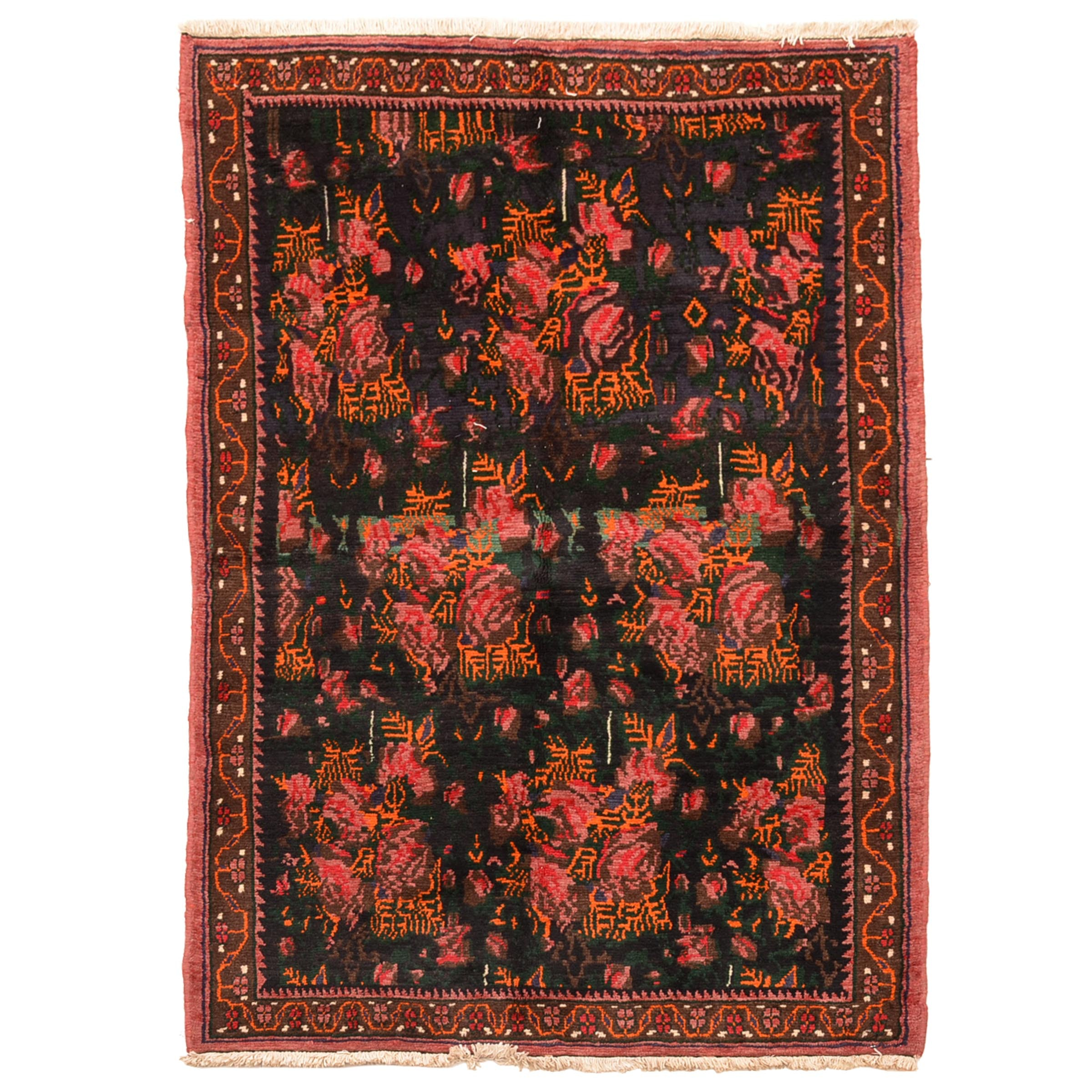 Hand-Knotted Persian-Inspired Area Rug