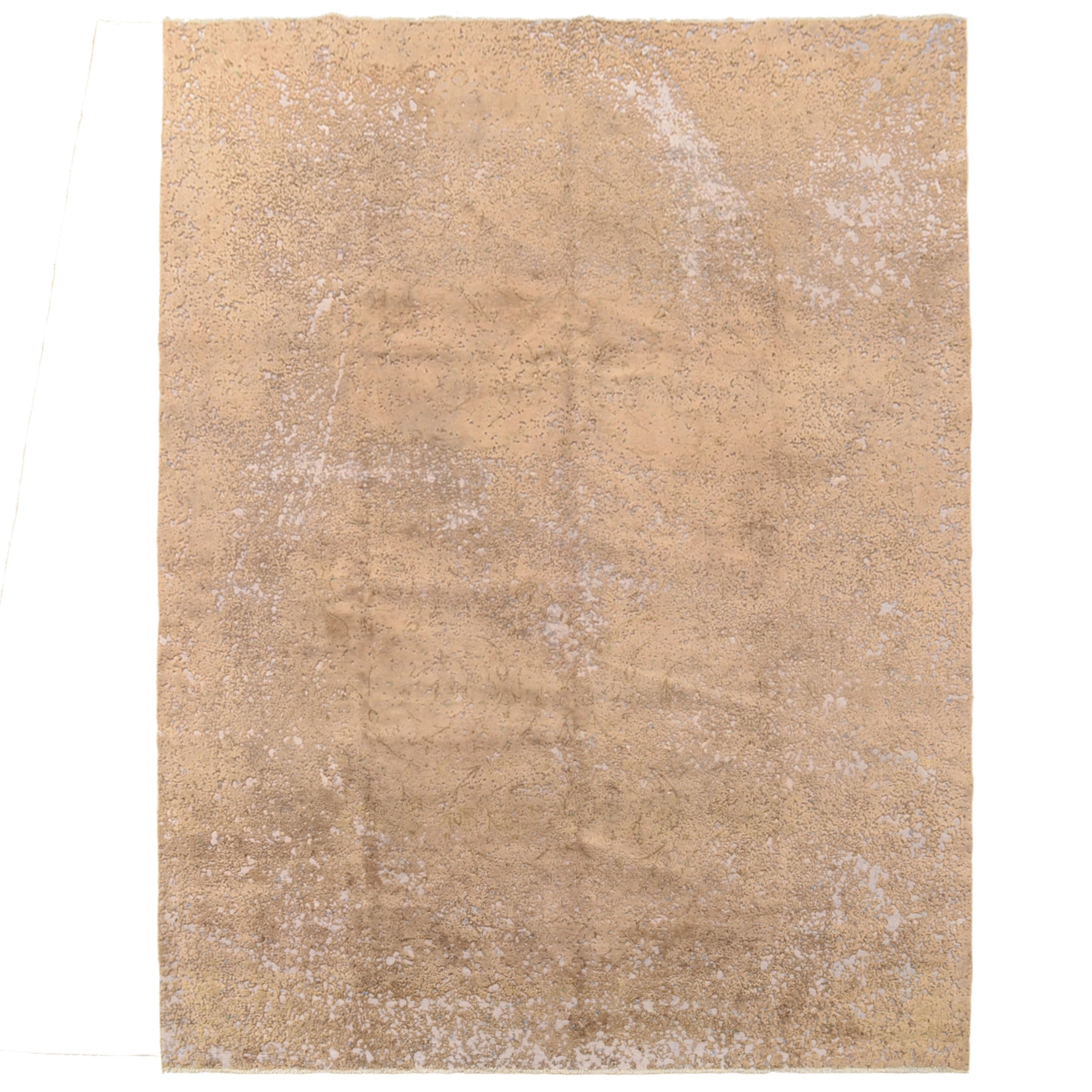Hand-Knotted Intentionally Distressed Oushak-Style Area Rug