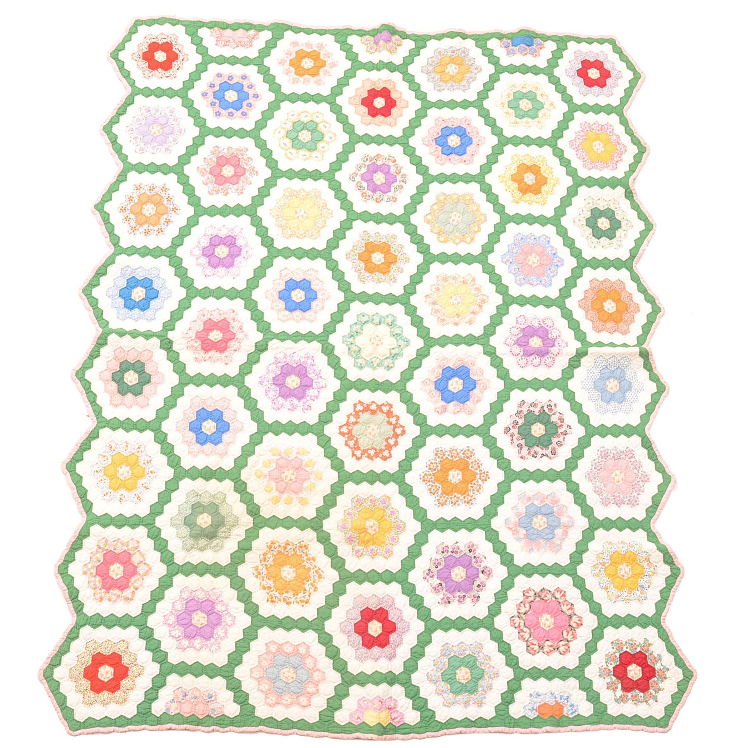 Vintage Floral Garden Decorative Quilt