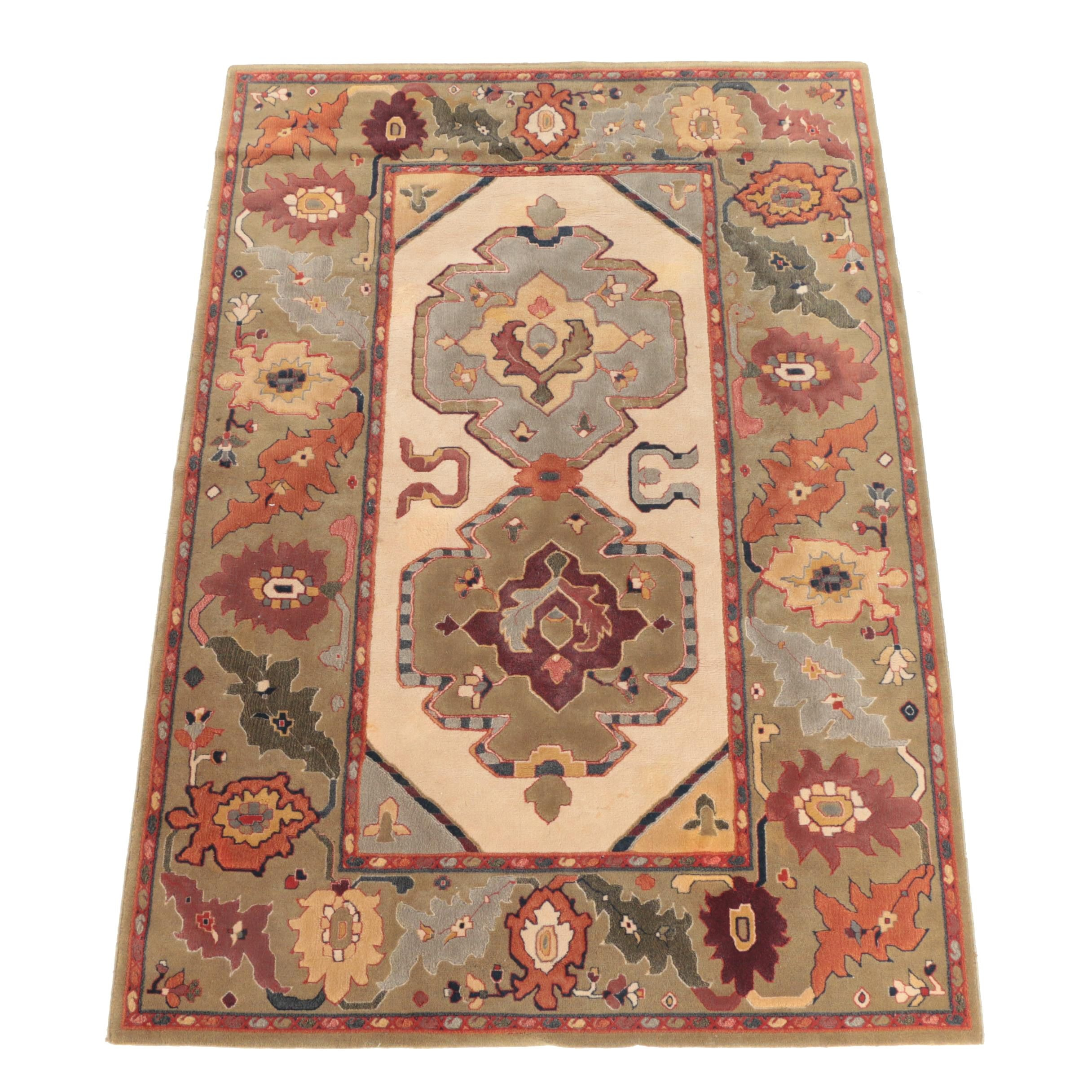 "Power-Loomed Belgian ""Delphi"" Carved Wool Area Rug by Kennedy Carpets"