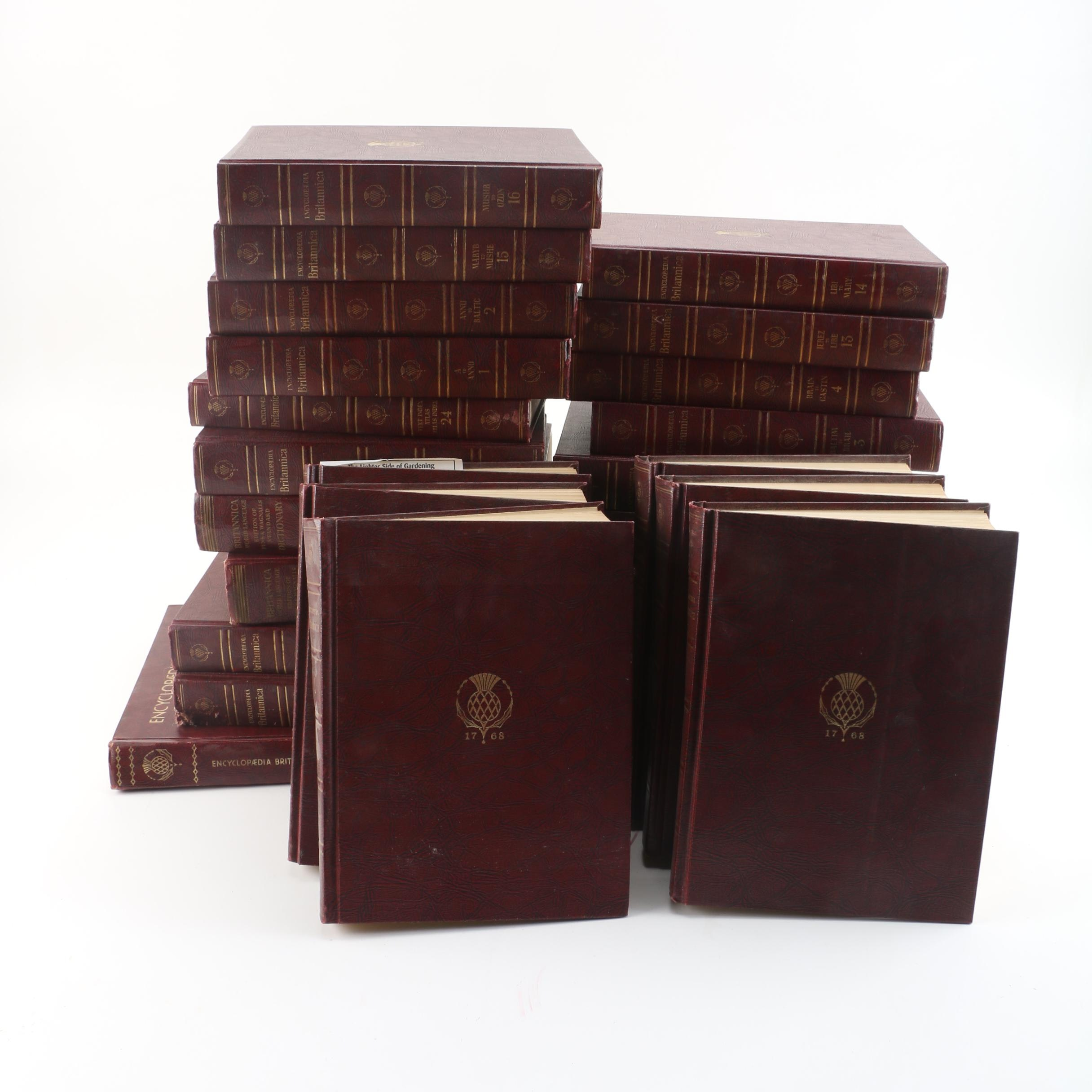 "1960s Twenty-Seven Volumes of ""Encyclopædia Britannica World Atlas"""