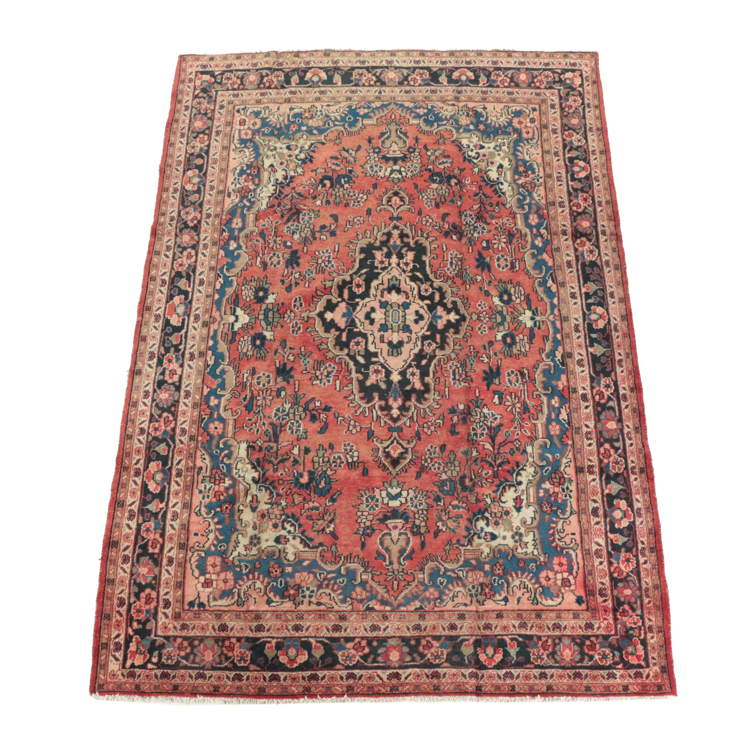 Hand-Knotted Persian Wool Area Rug