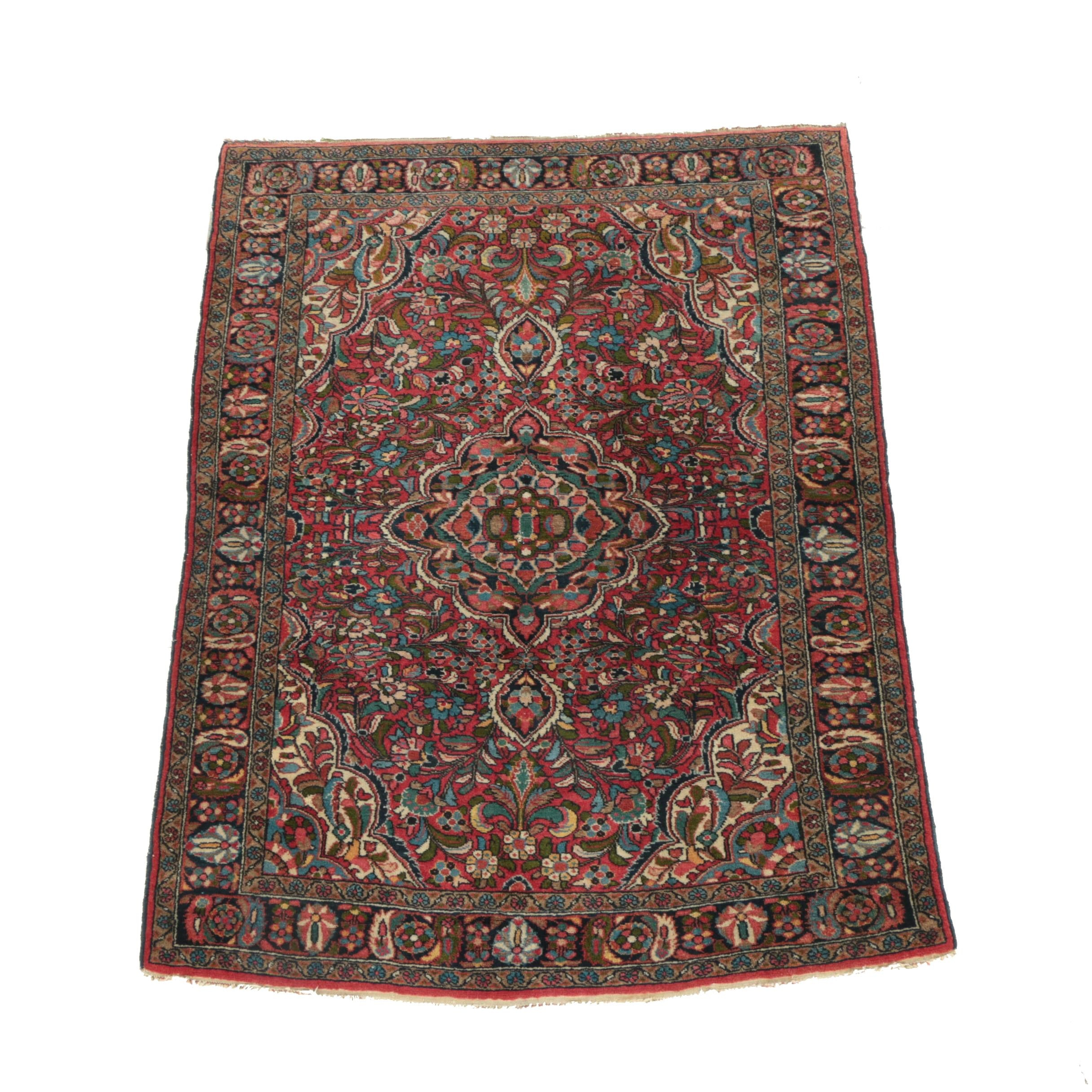 Hand-Knotted Persian-Style Wool Area Rug