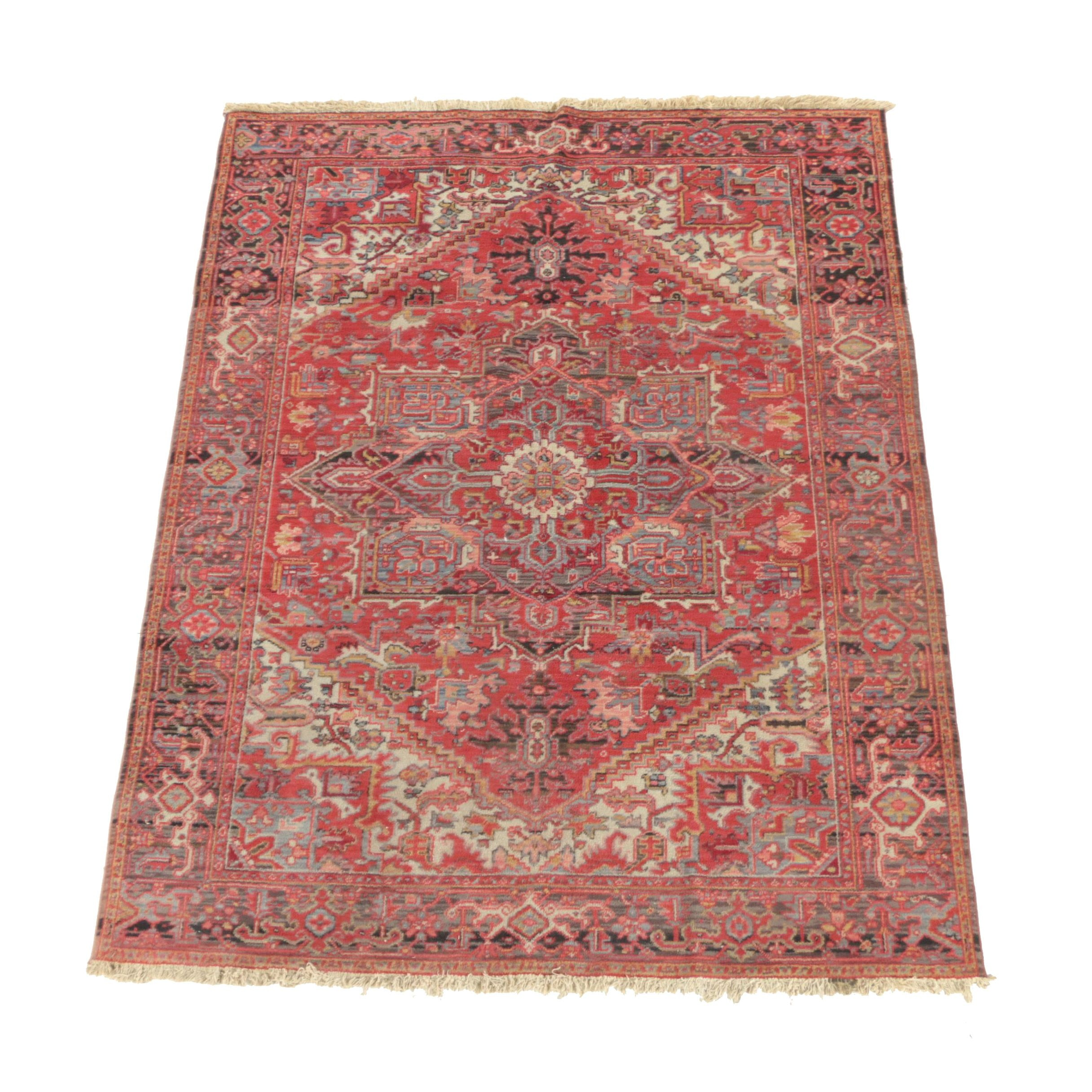 Power-Loomed Belgian Persian Heriz-Style Wool Area Rug by Icco