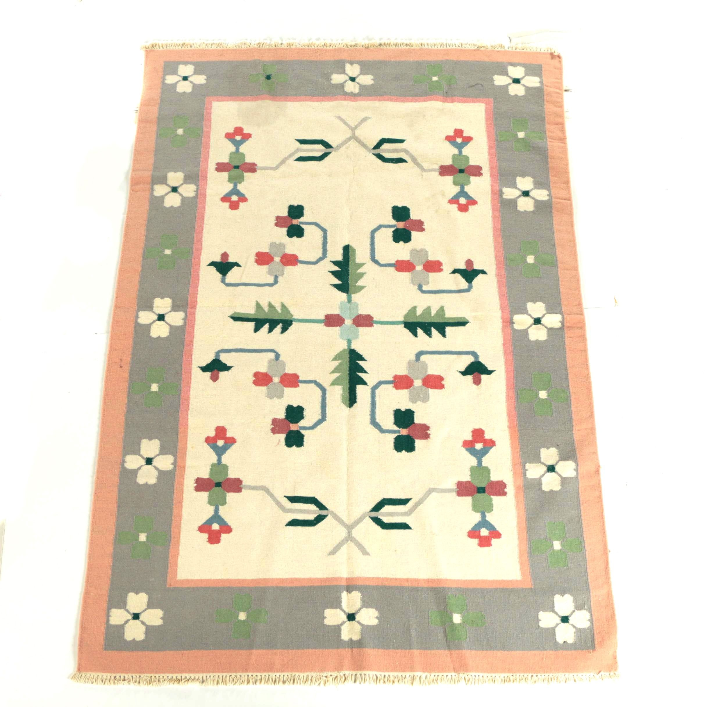 Handwoven Indian Dhurrie Area Rug