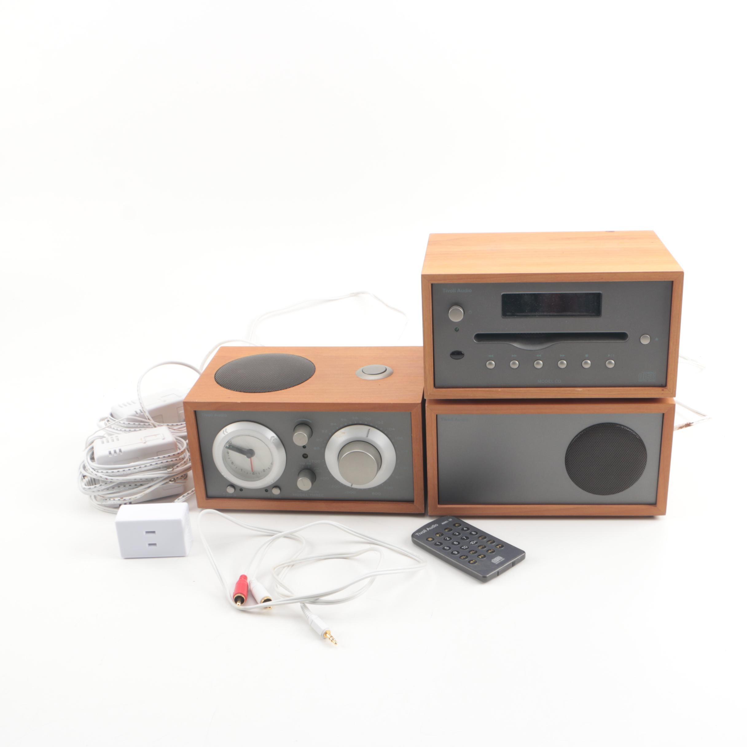 Tivoli Audio Model Three Clock-Radio, CD Player and Speaker