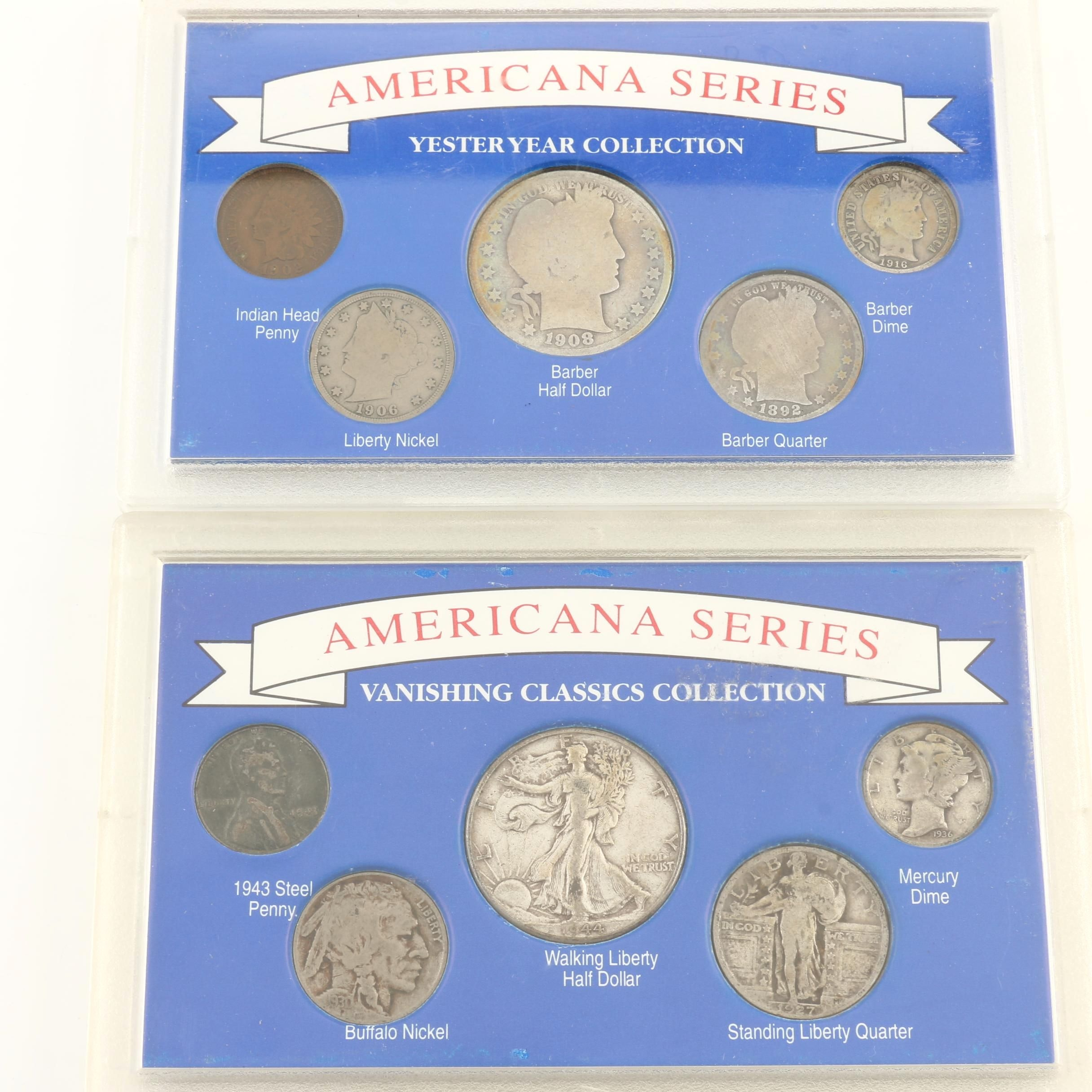 """Two """"Americana Series"""" Vintage U.S. Coin Sets"""
