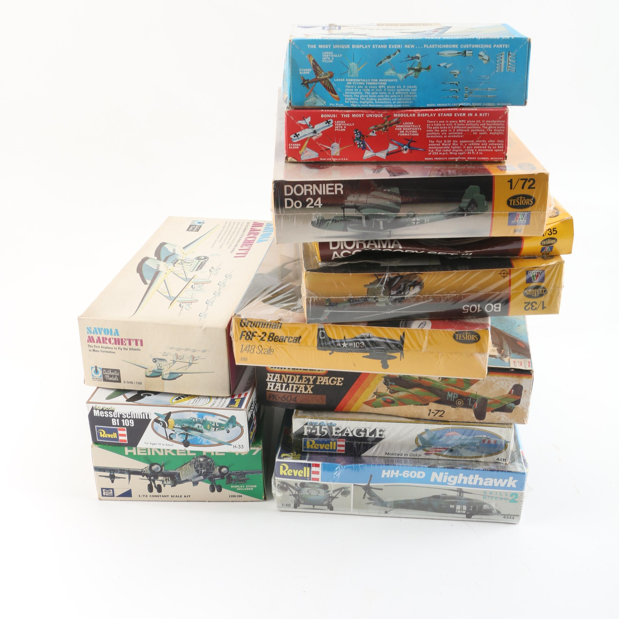 Vintage Revell and Other Military Aircraft Model Kits