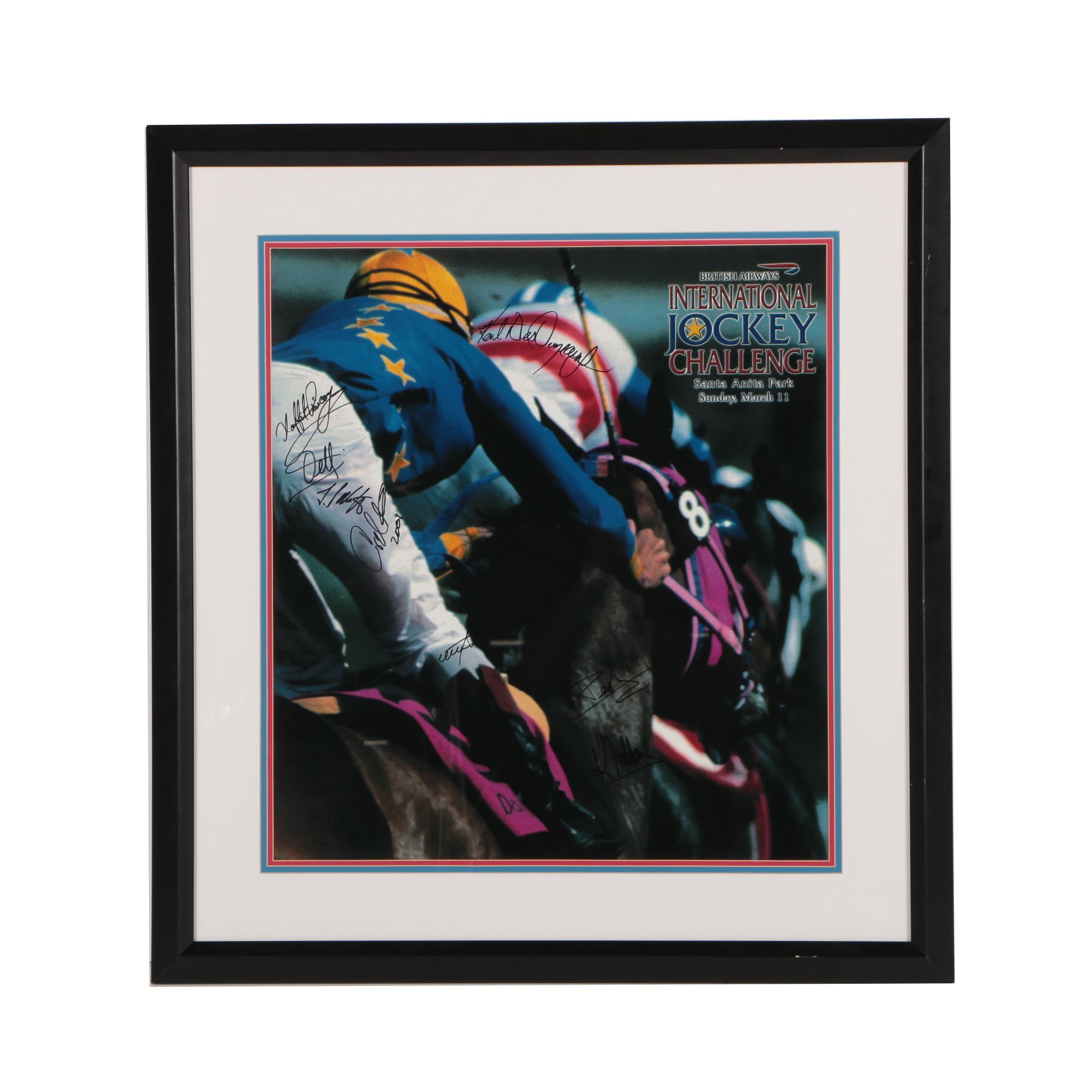 Autographed International Jockey Challenge Poster