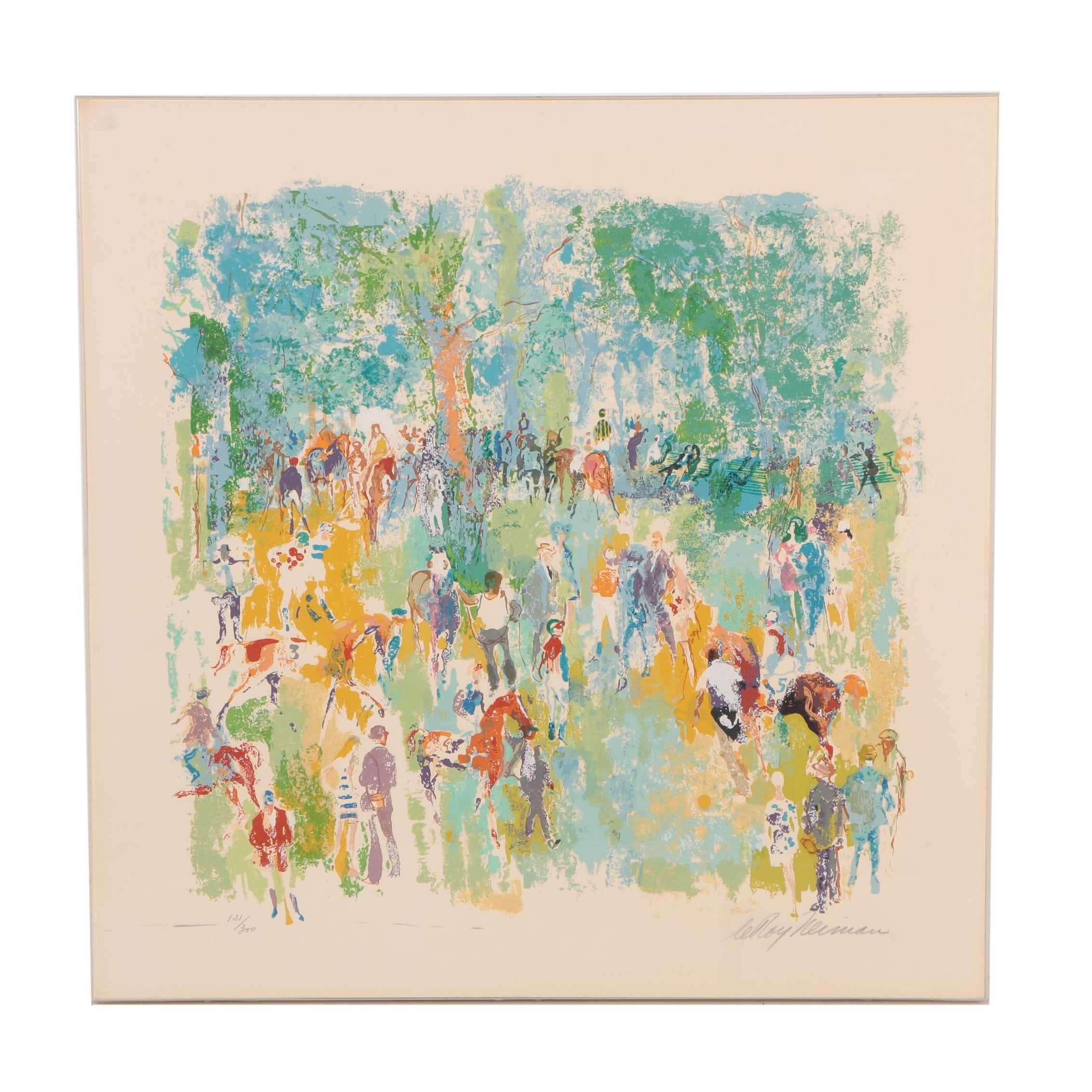 """LeRoy Neiman Serigraph """"Before the Race"""""""