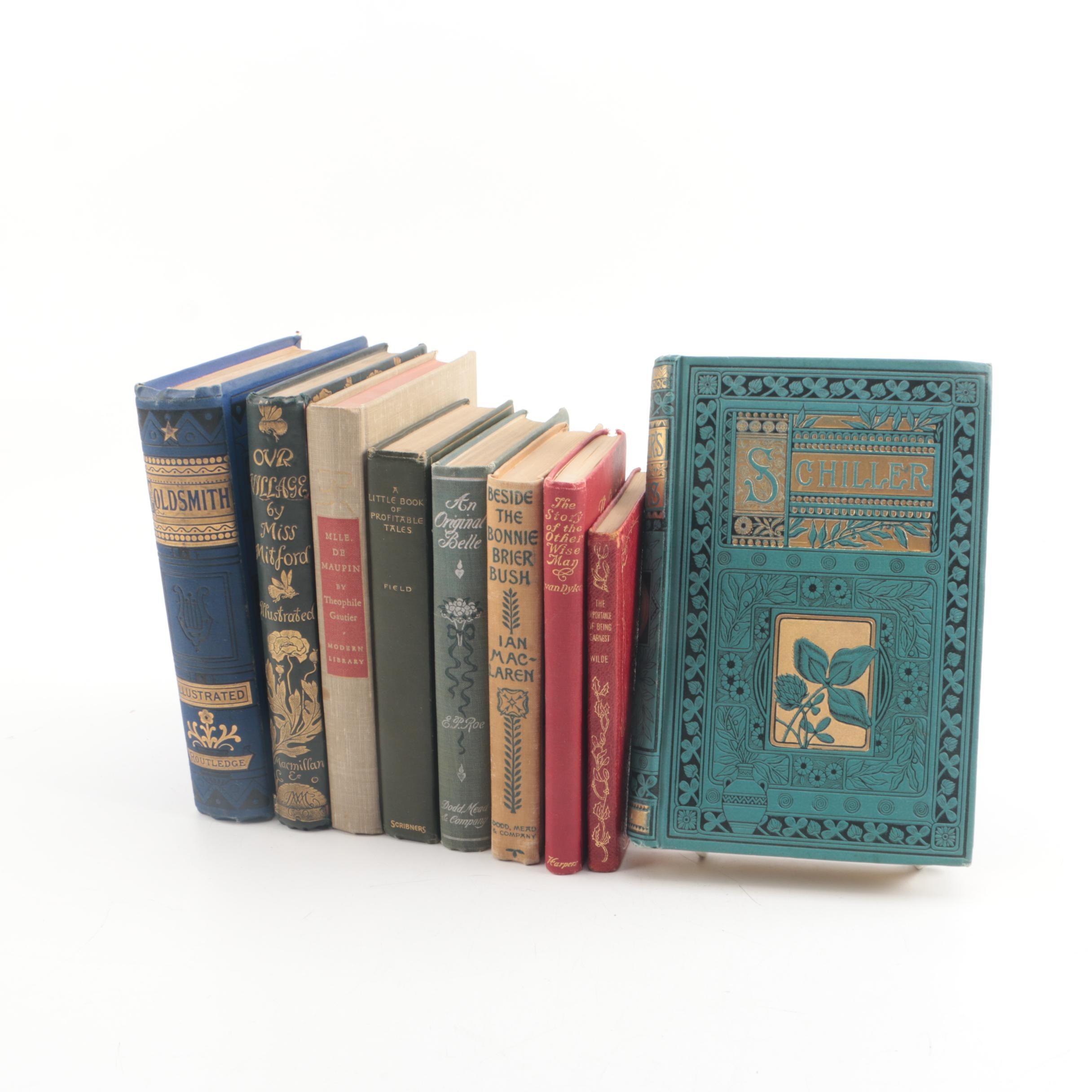 Antique and Vintage Books Including Oliver Goldsmith