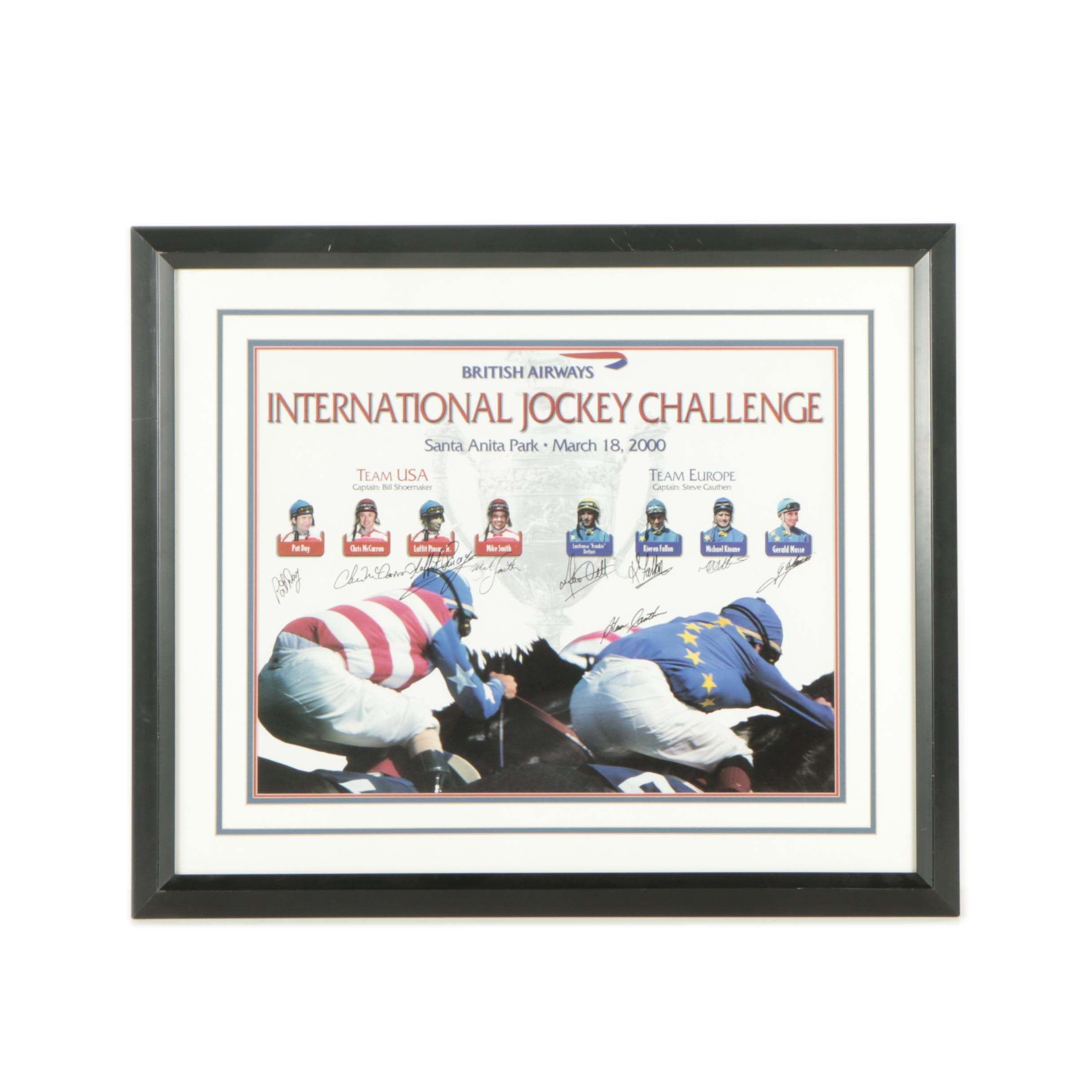 Autographed International Jockey Challenge 2000 Poster