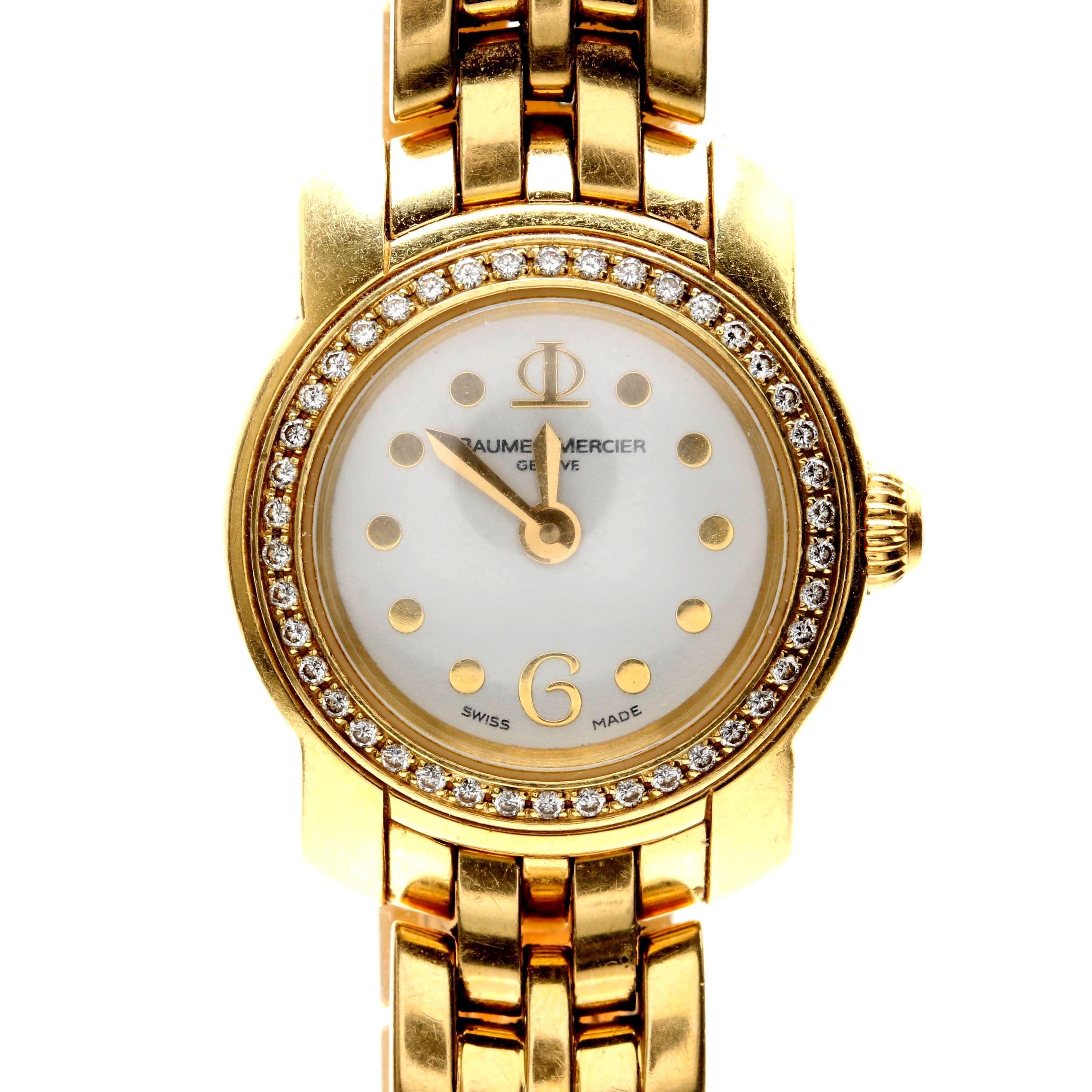 Baume & Mercier 18K Yellow Gold and Diamond Wristwatch