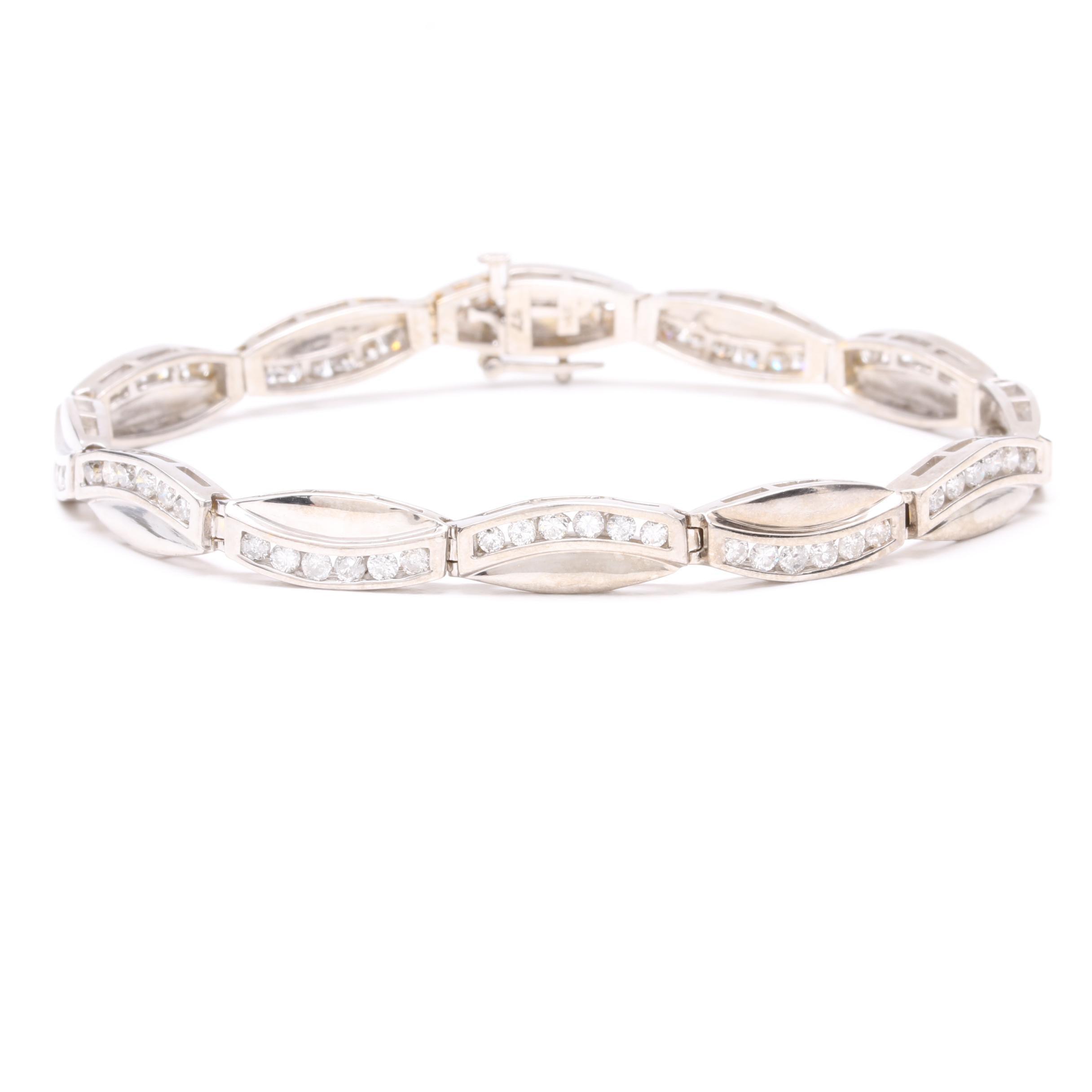 14K White Gold 2.07 CTW Diamond Bracelet