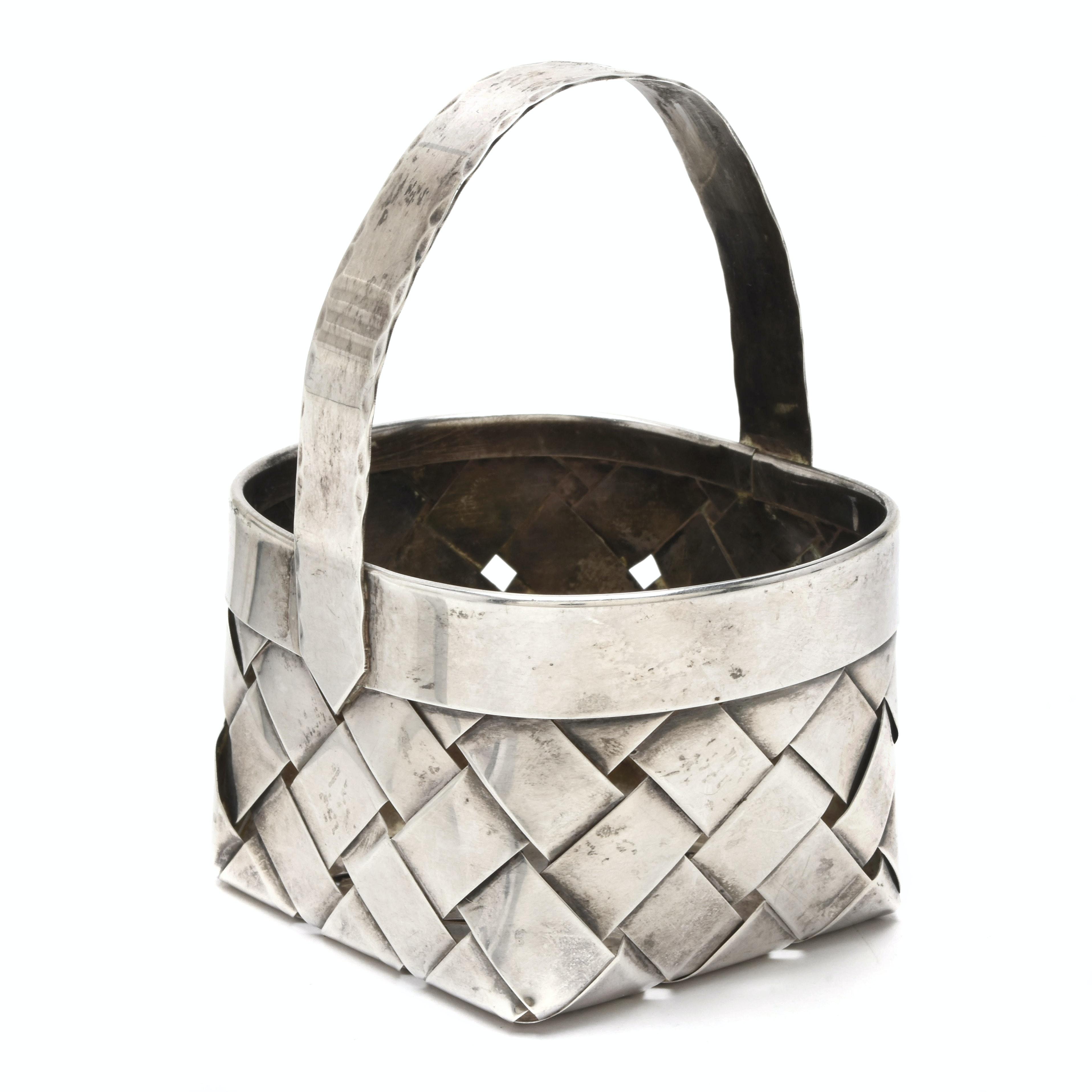 Cartier Miniature Sterling Silver Basket