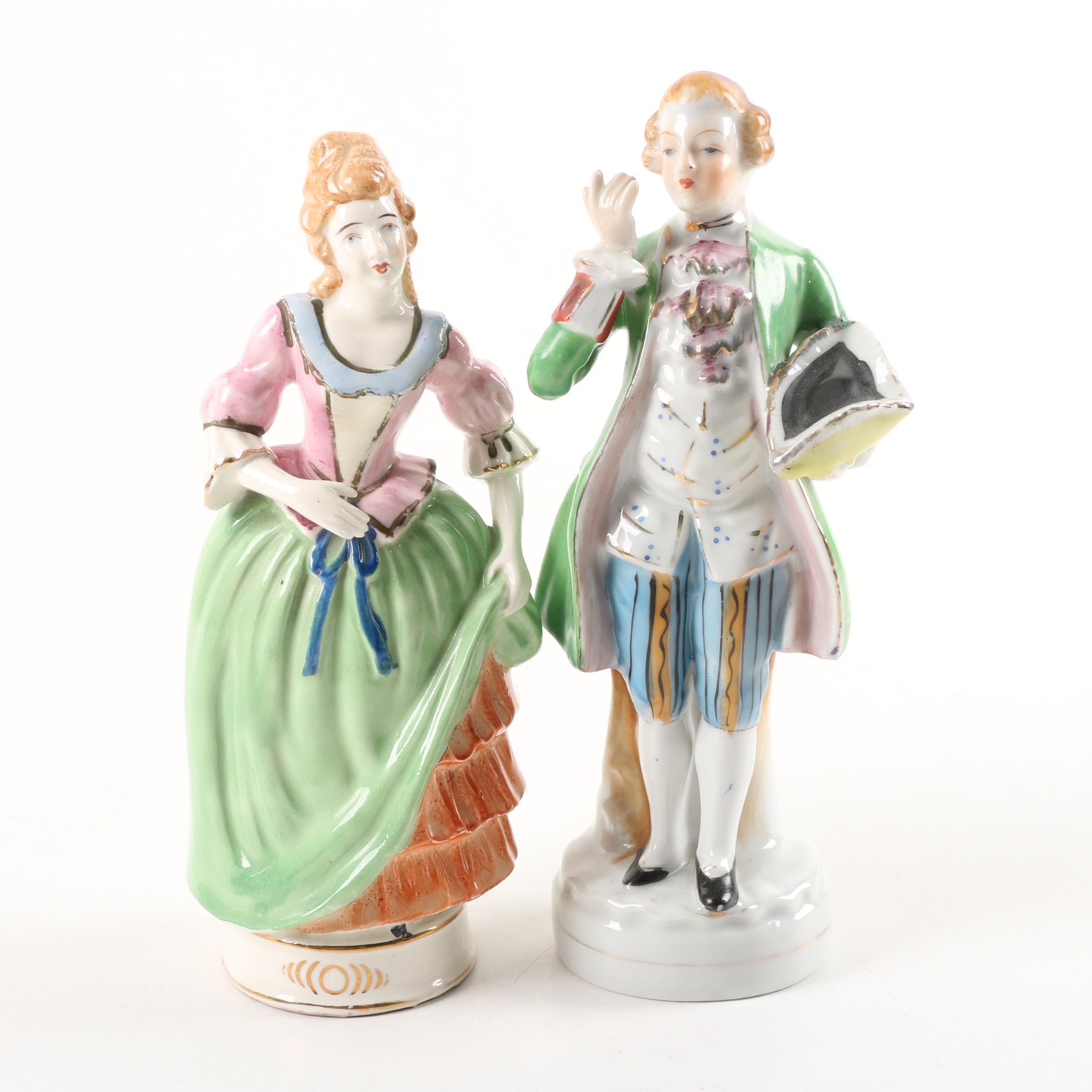 Occupied Japan Figurines of French Court Figures