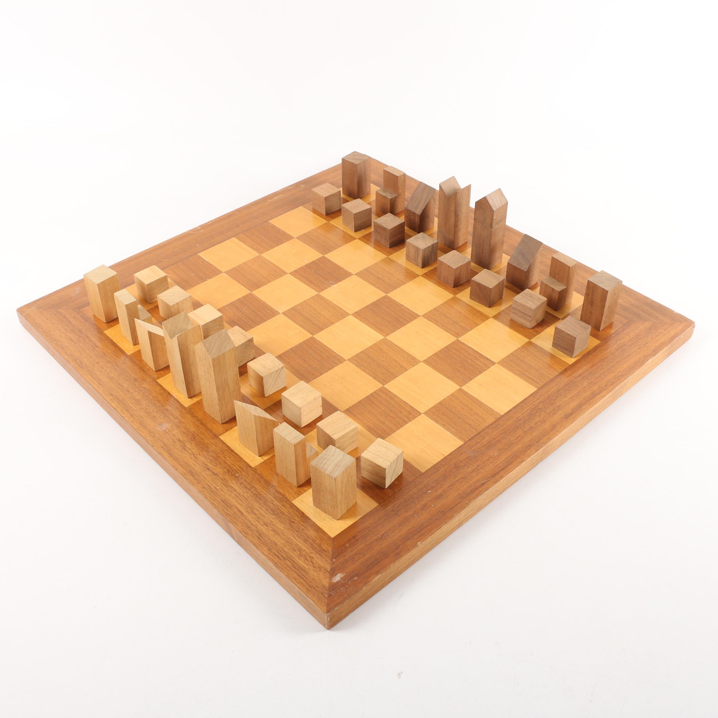Berea College Woodcraft Handmade Chess Set
