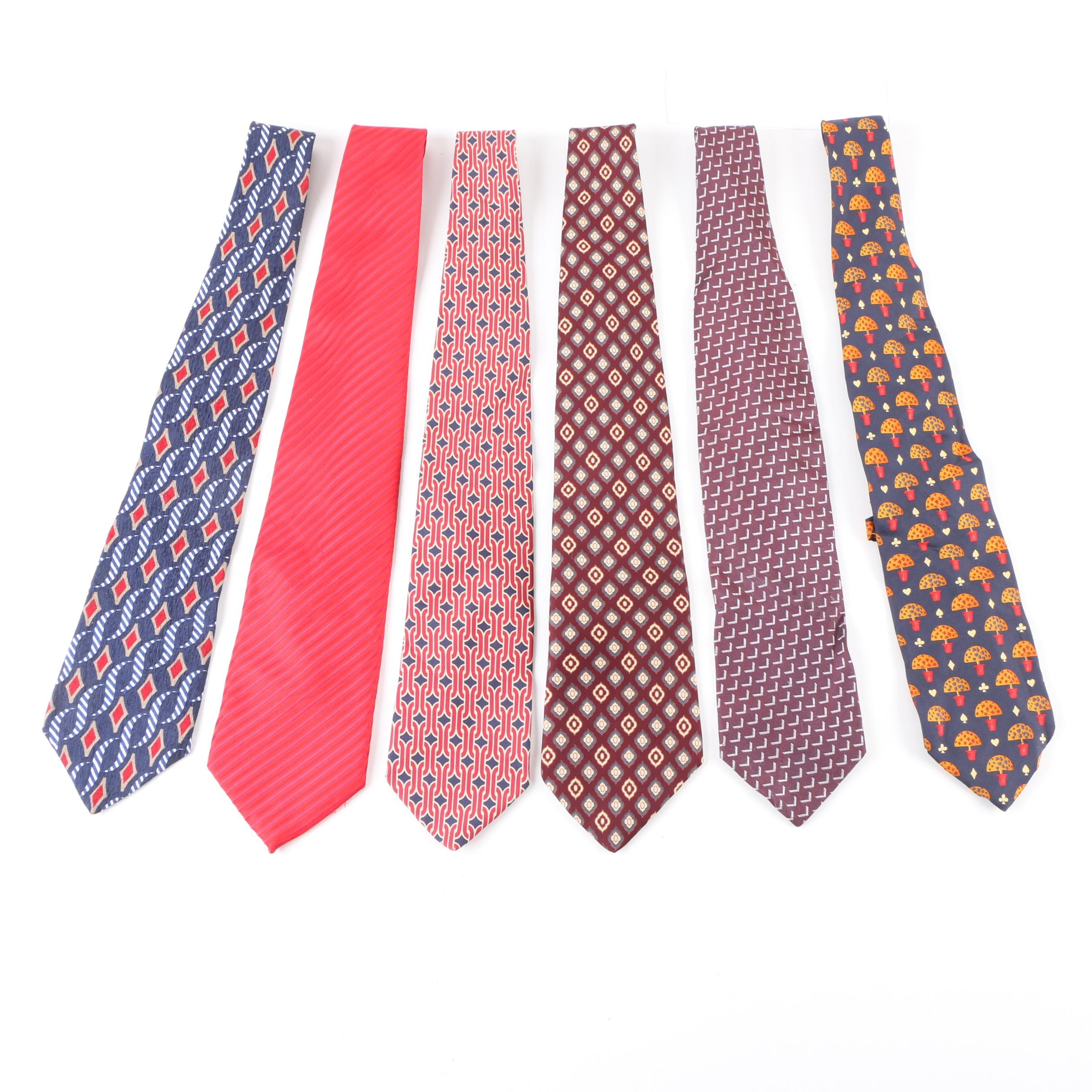 Men's Designer Silk Neckties Featuring Gucci, Yves St.Laurent and Givenchy