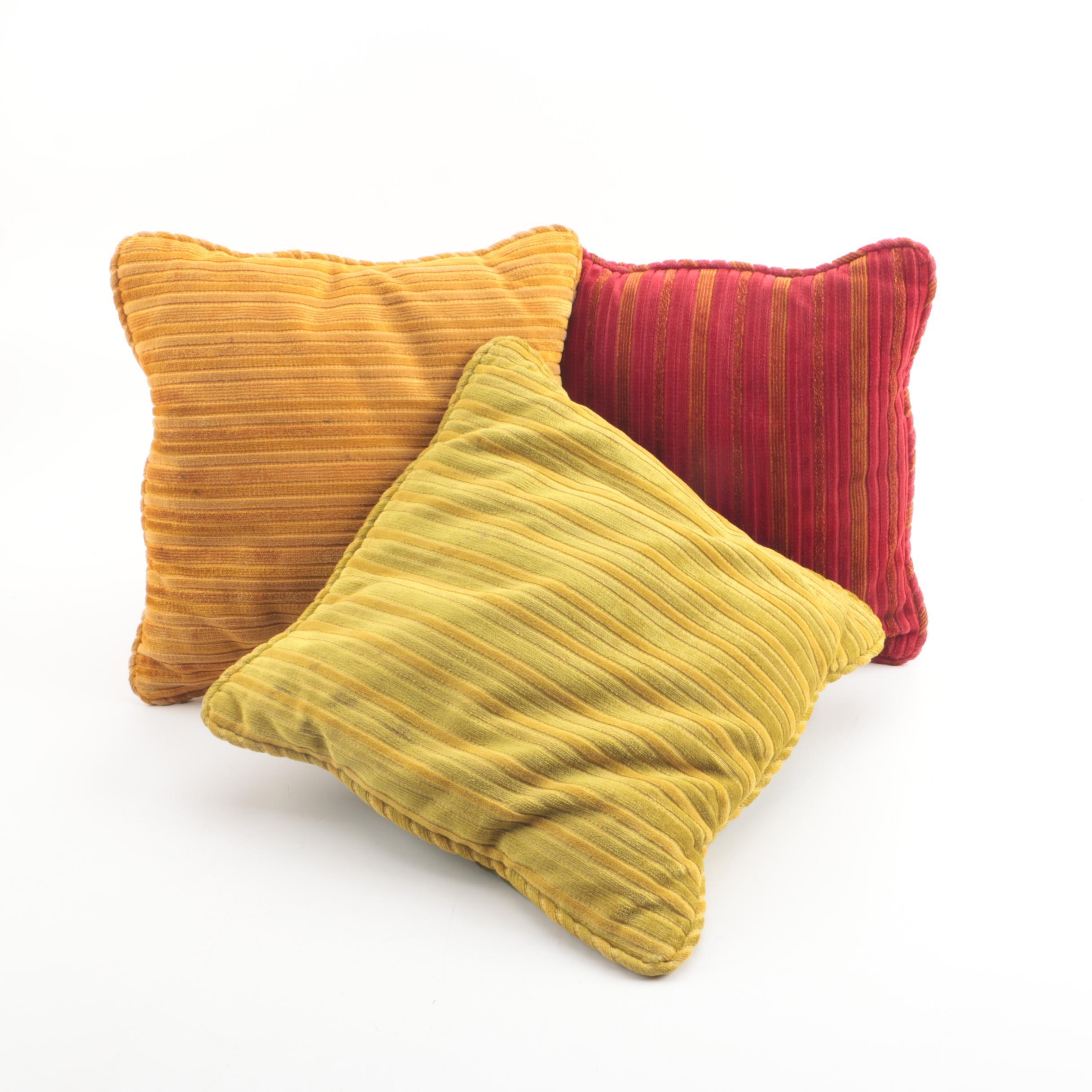 Colorful Corduroy Throw Pillows