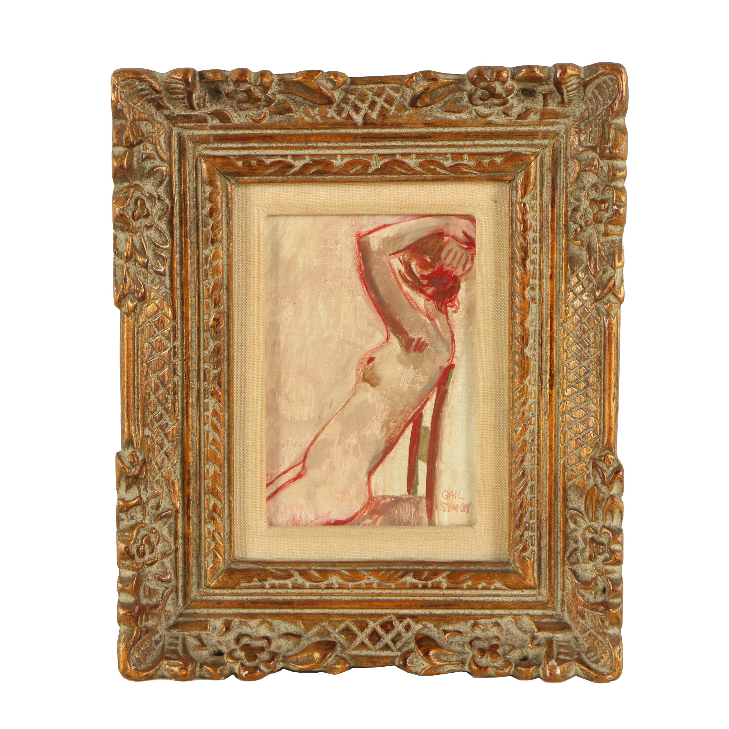 Gail Symon Oil Painting of a Female Figure