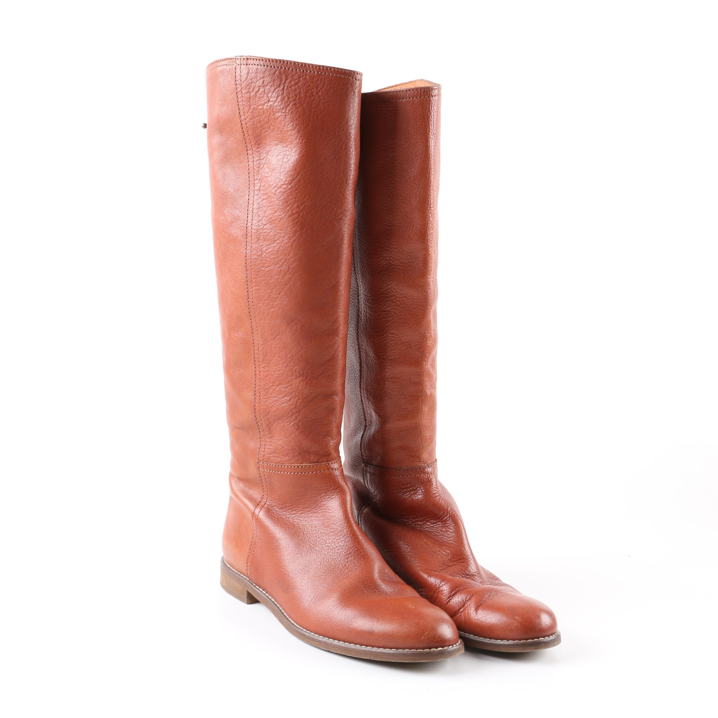 Madewell Knee-High Brown Leather Boots