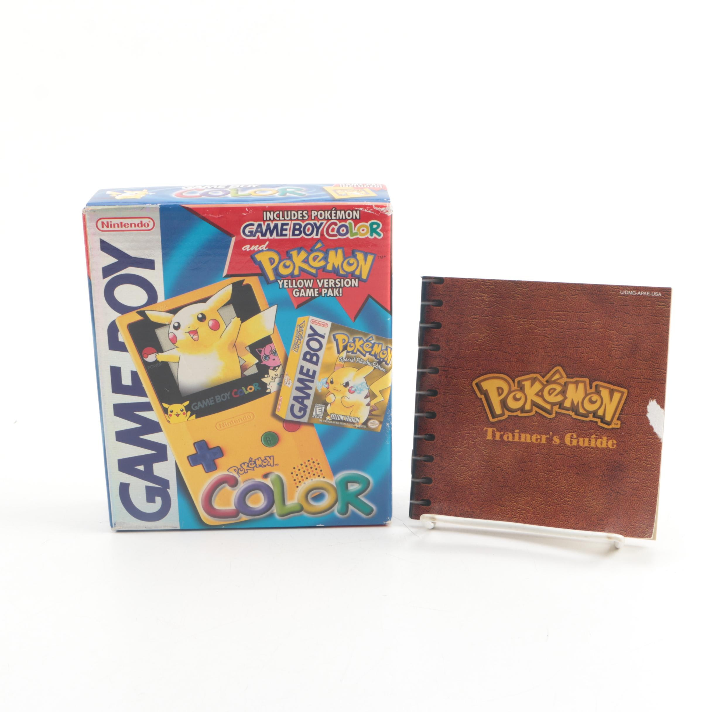Nintendo Gameboy Color with Pokémon Yellow Version Game