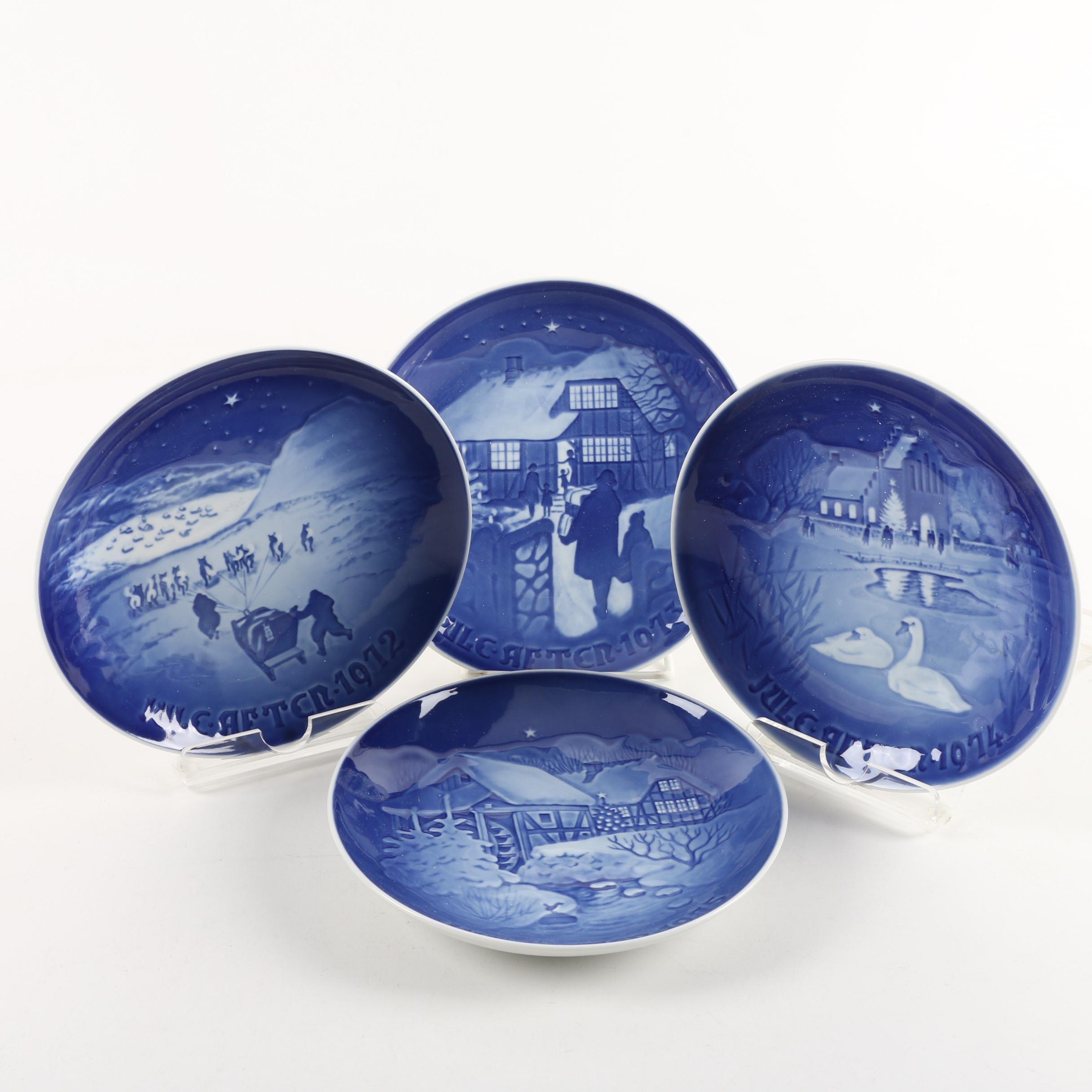 Bing & Grondahl Porcelain Christmas Plates 1972 to 1975