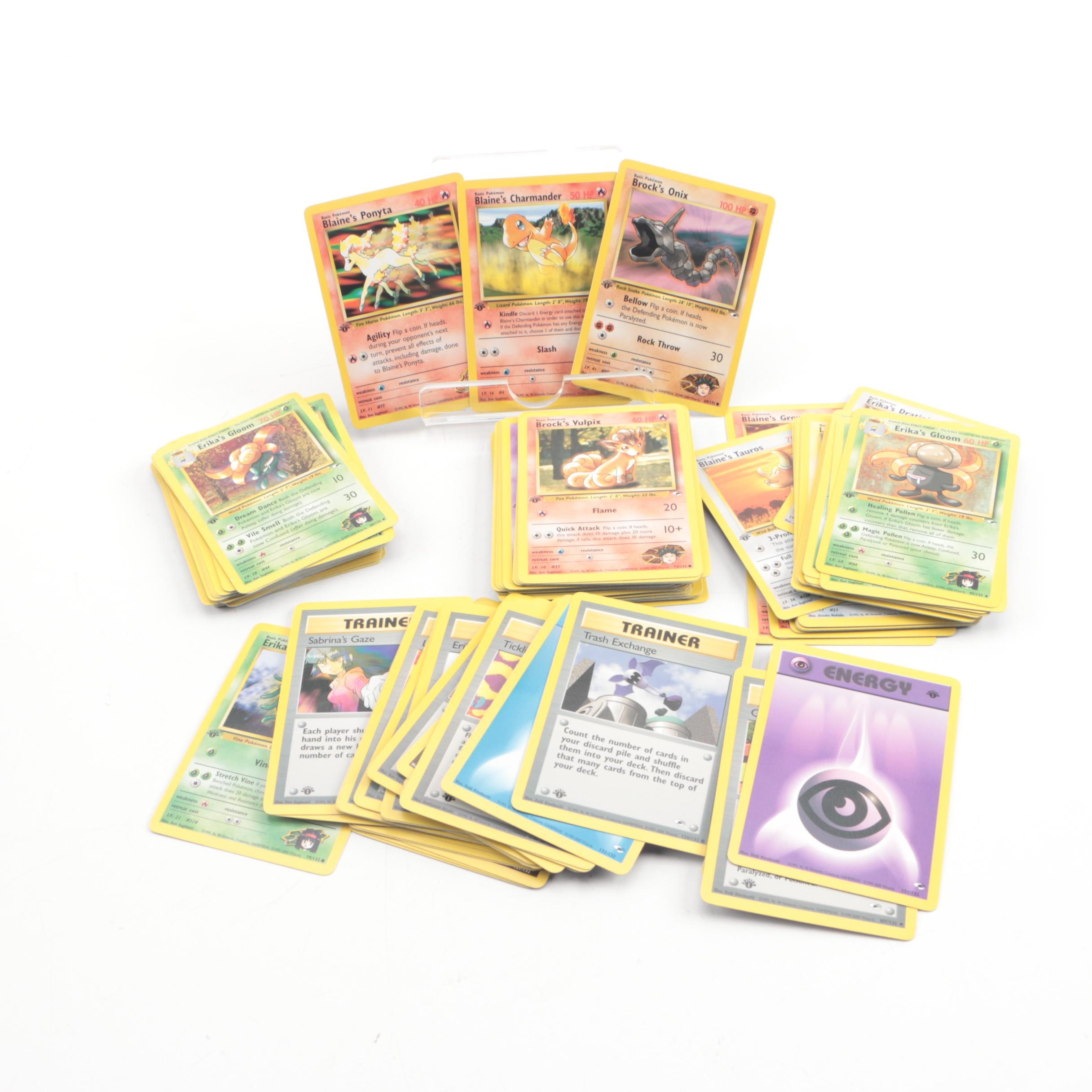 "Pokémon ""Gym Hero"" First Edition Set Trading Cards"