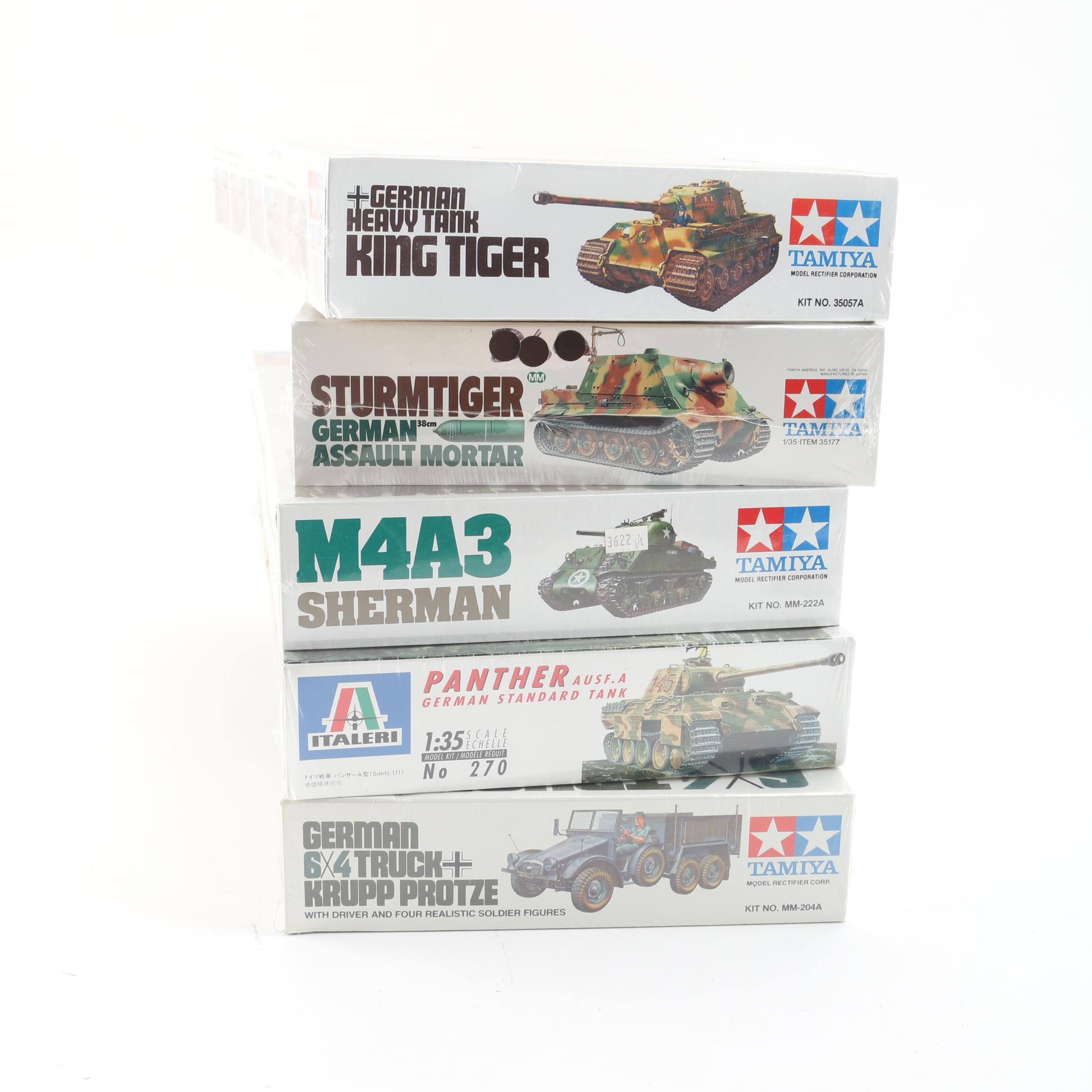 Military Vehicle Model Kits Including Tamiya