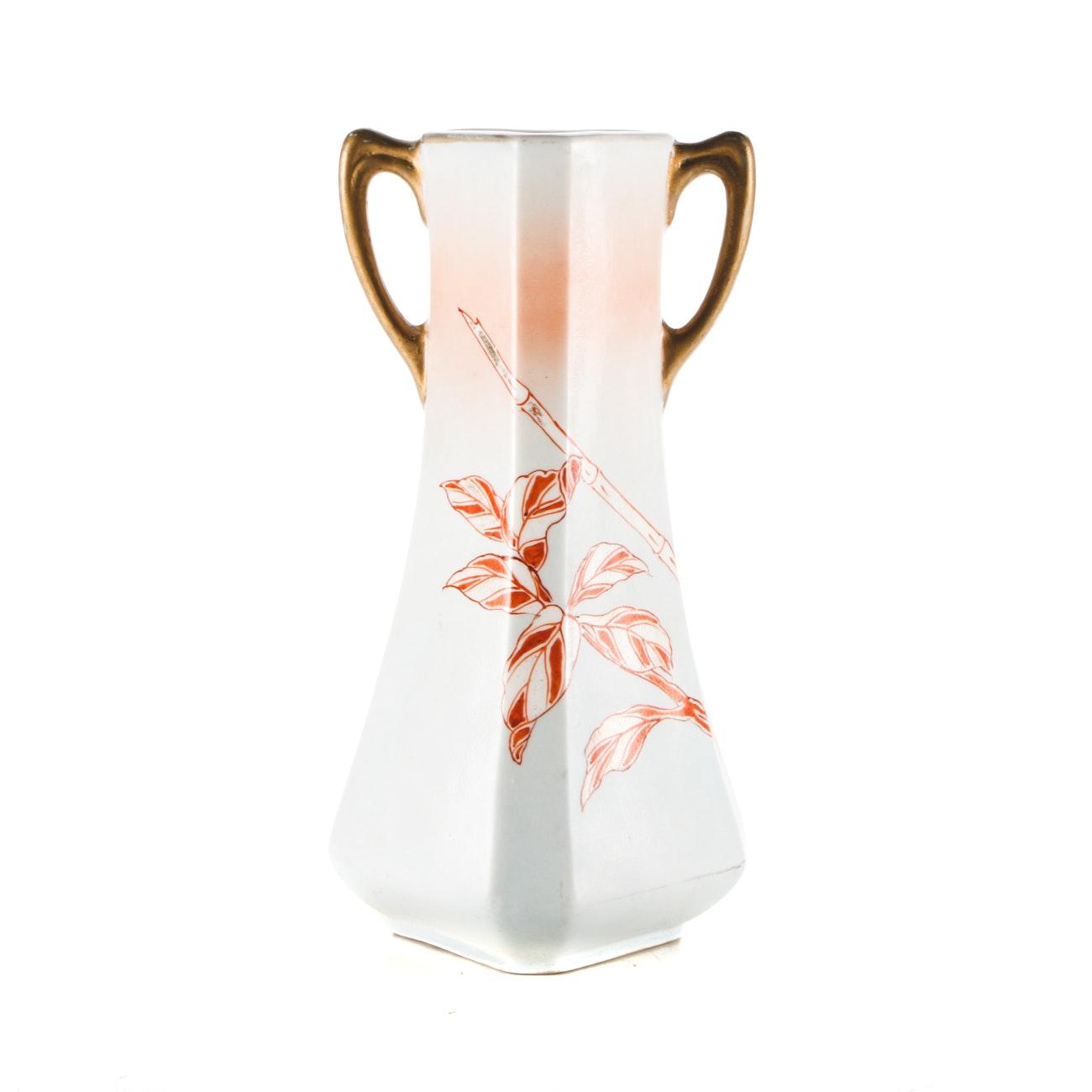 Antique Royal Nishiki Nippon Fine Porcelain Mantle Vase