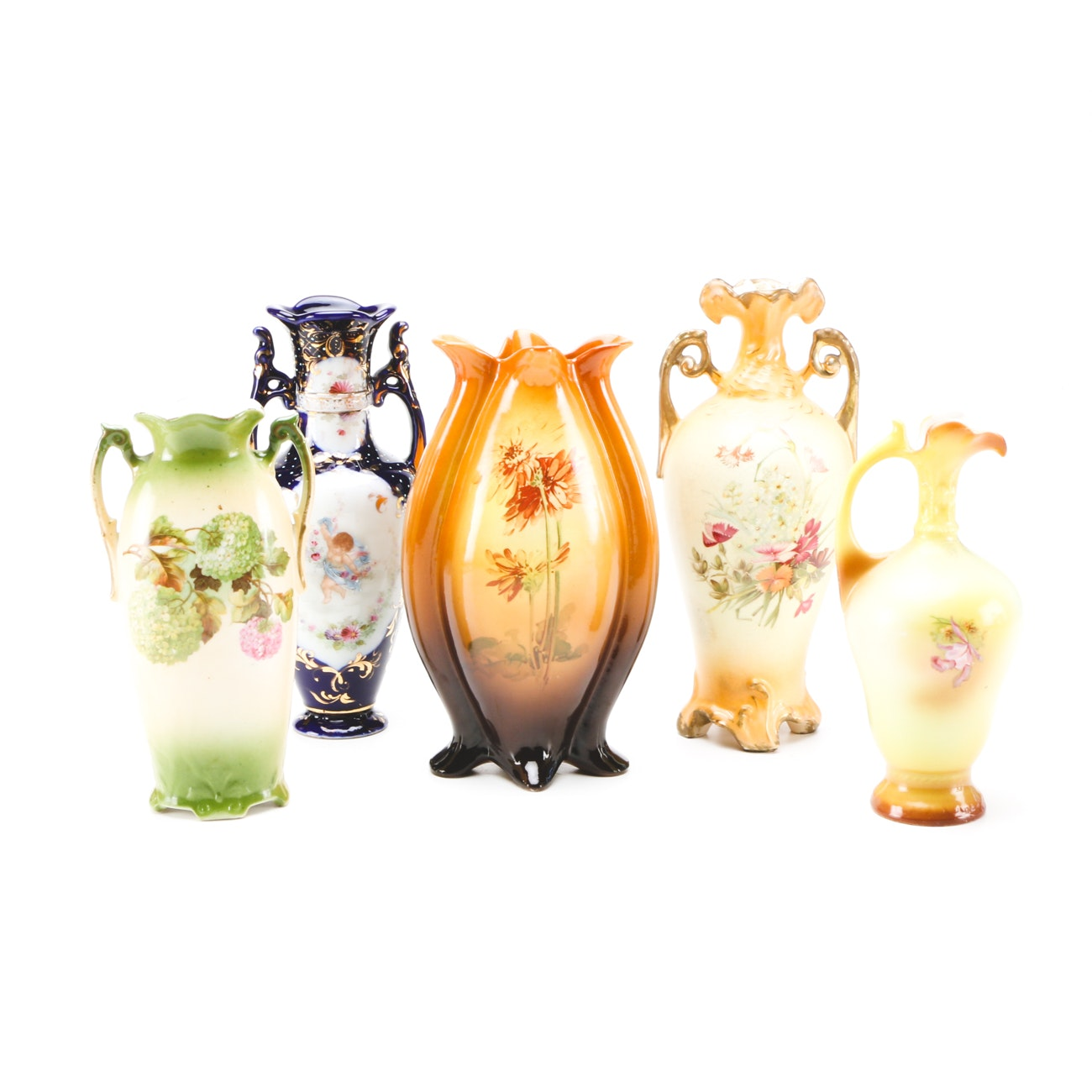 Antique Vases Including Royal Wettina