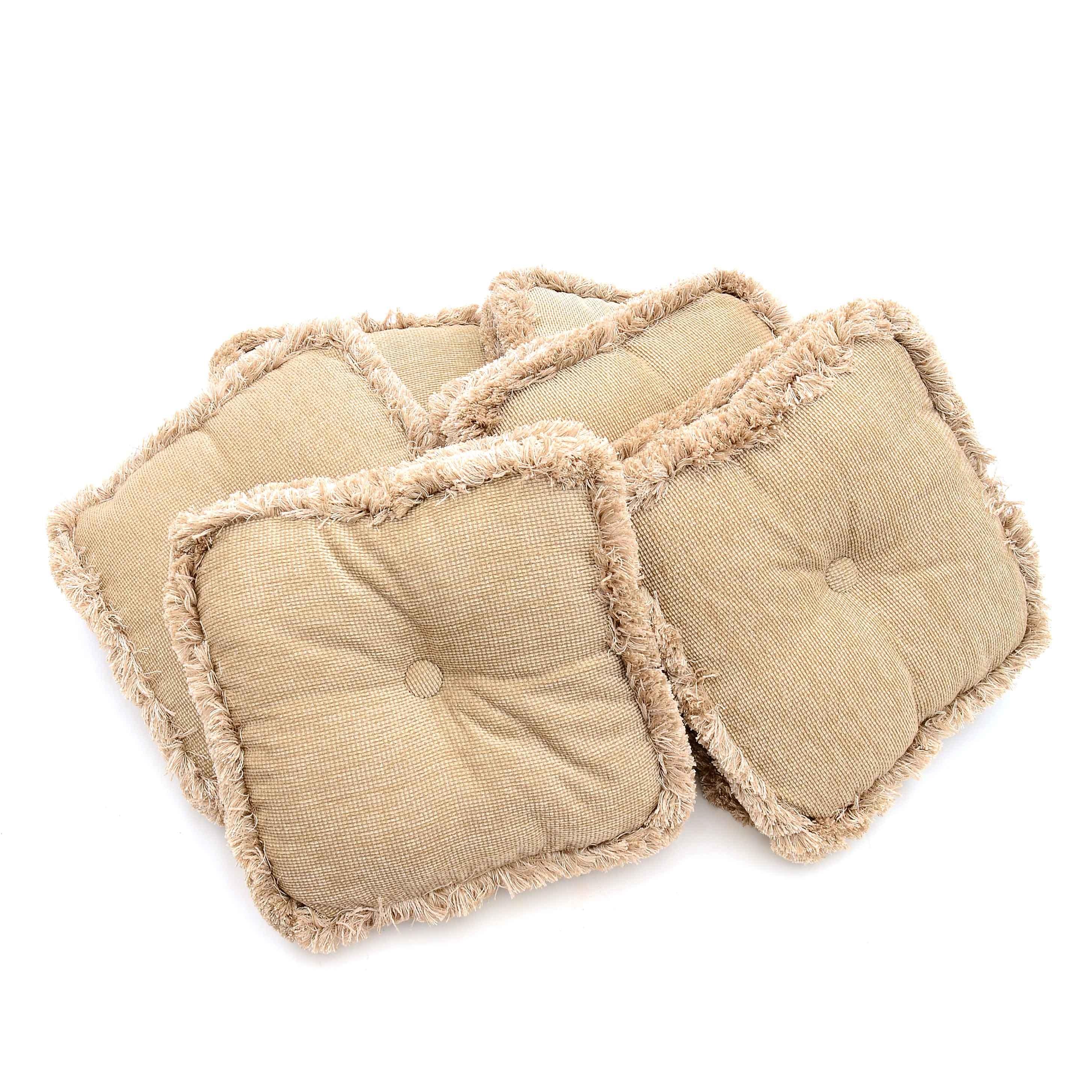 Woven Beige Seat Cushions