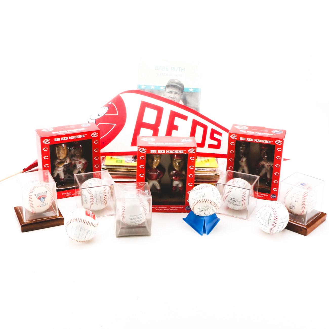 Assorted Baseball Memorabilia Including Bobblehead Dolls