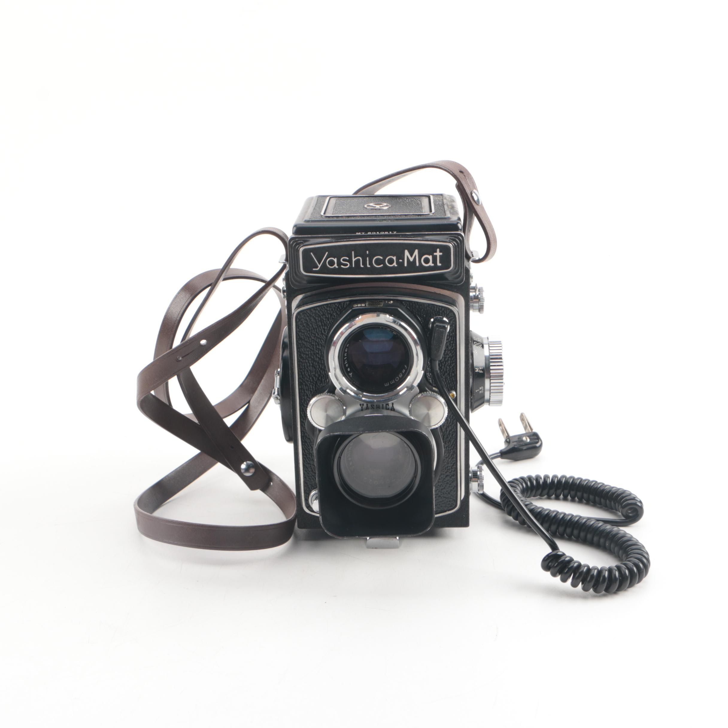 Vintage Yashica-Mat Twin-Lens Reflex Camera