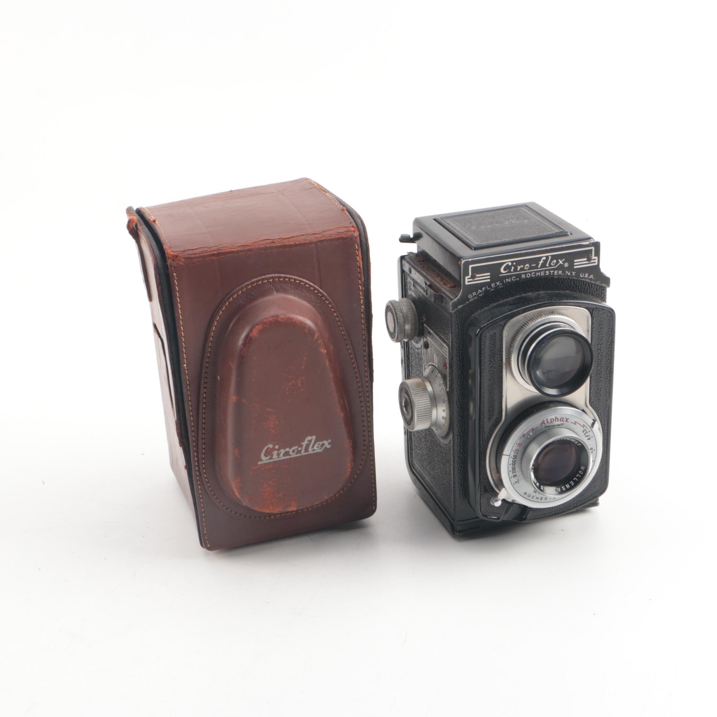 Vintage Ciro-Flex Model D Twin-Lens Reflex Camera