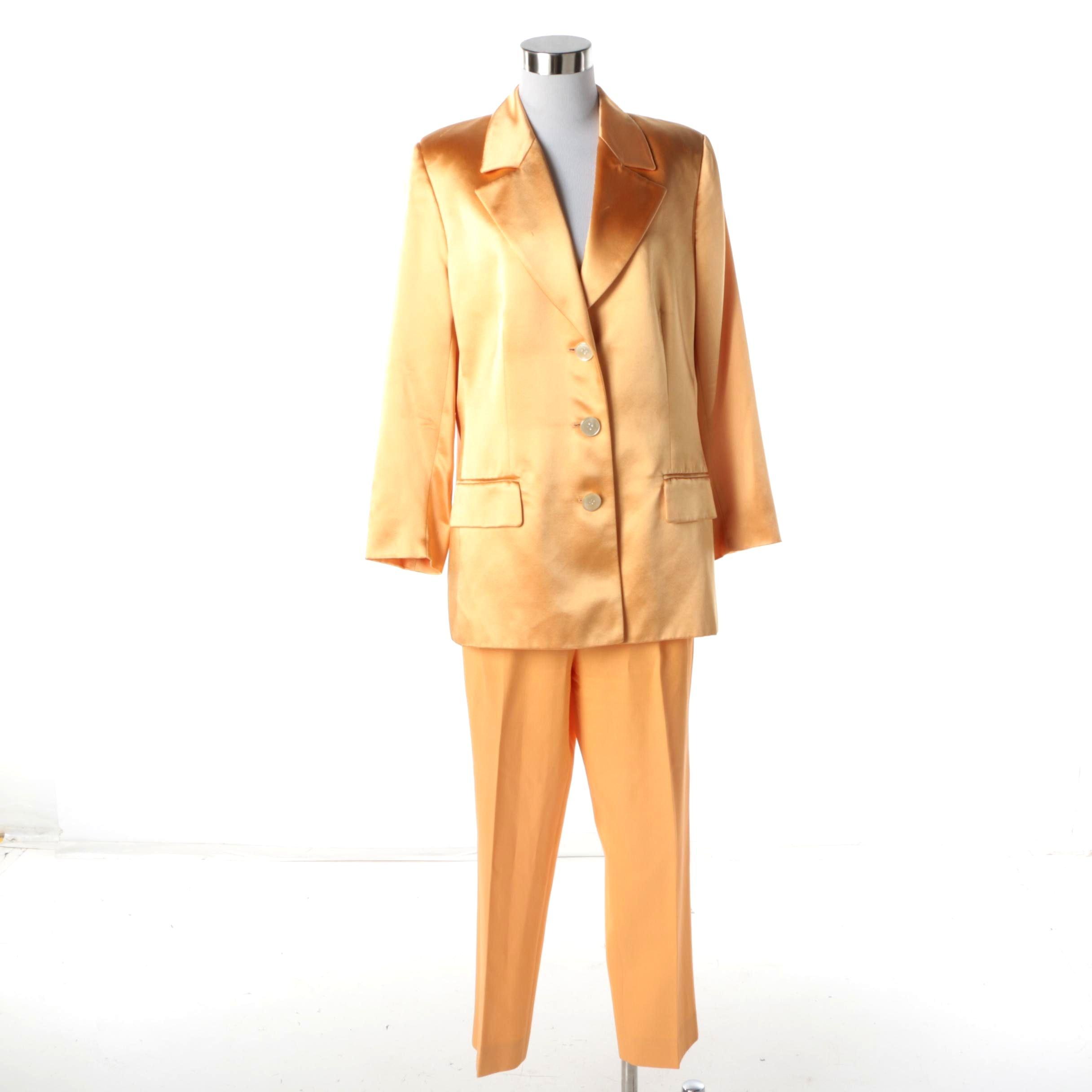 Women's Valentino Pale Orange Jacket and Pants