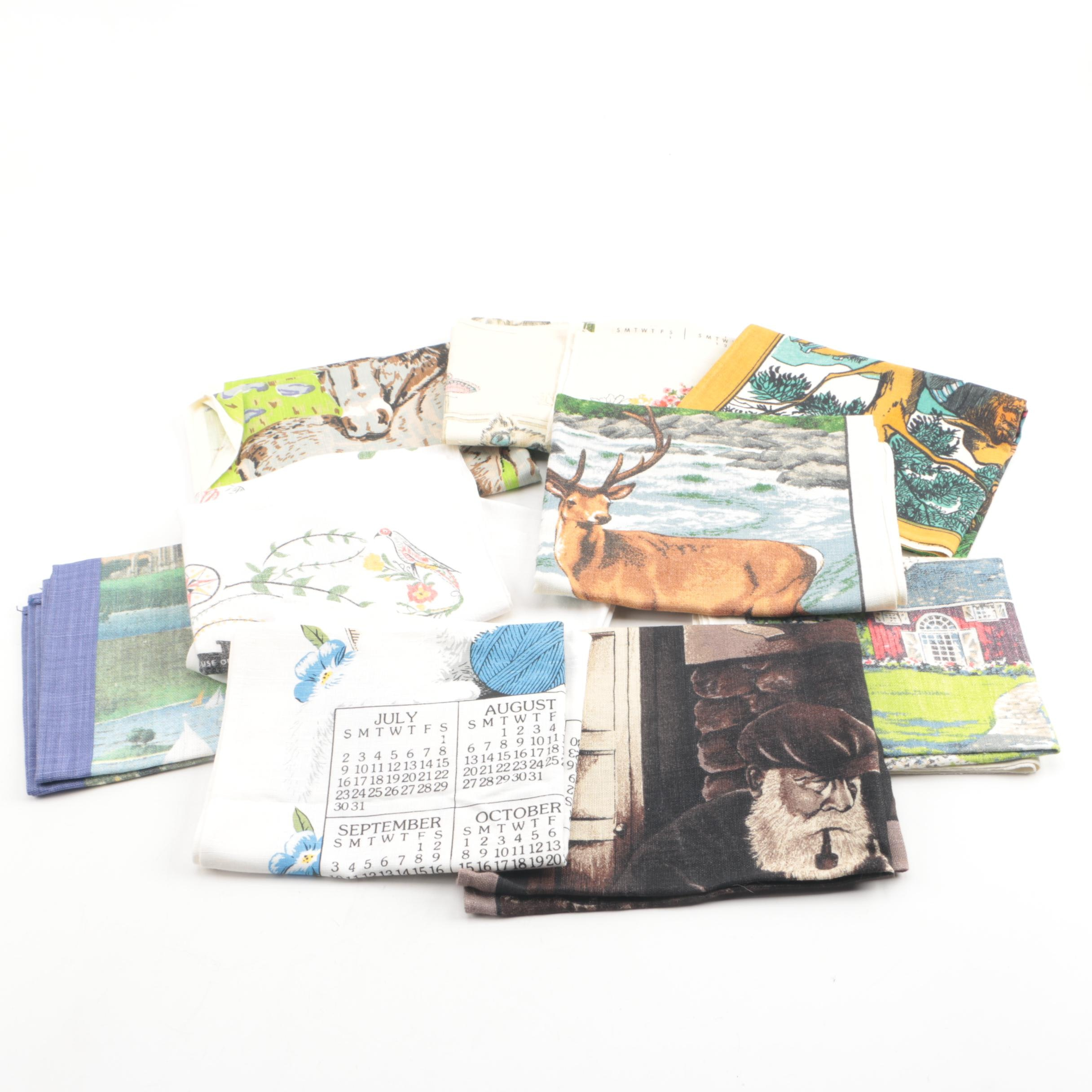 Printed Linens and Calendars Including Irish linen
